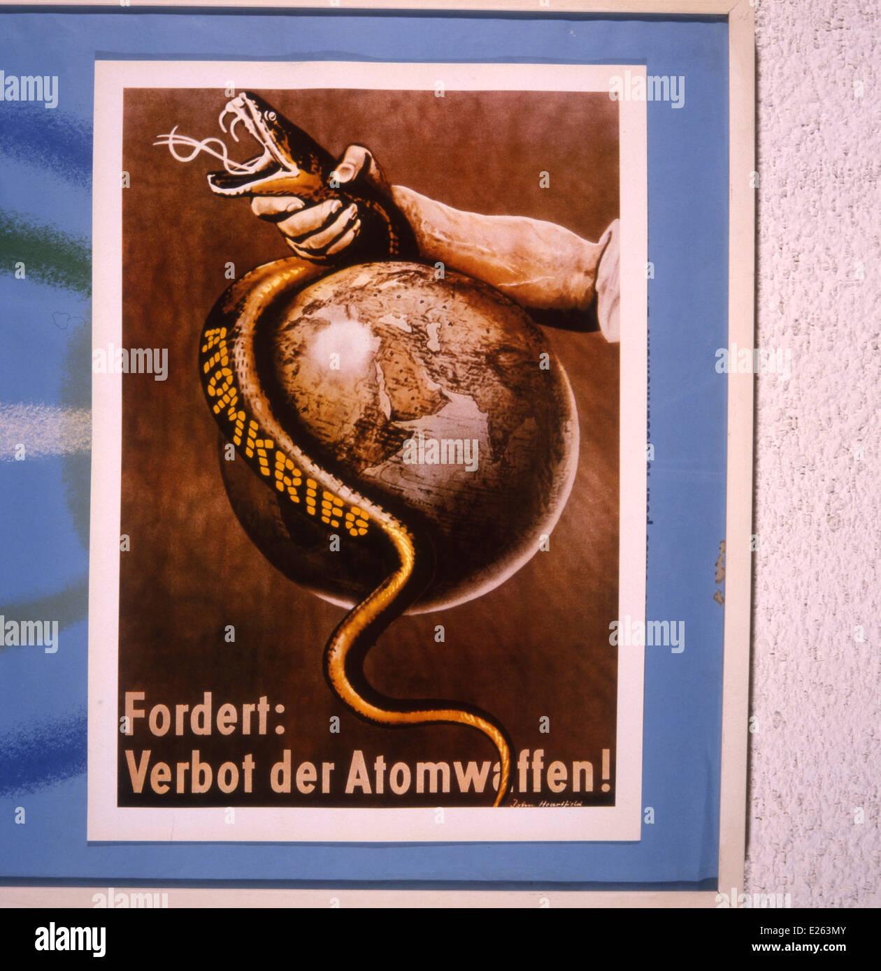 Cartel de la paz alemán,1970-1980,colección privada. Foto de stock