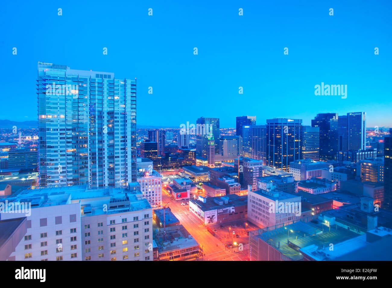 Horizonte de Denver, CO Imagen De Stock