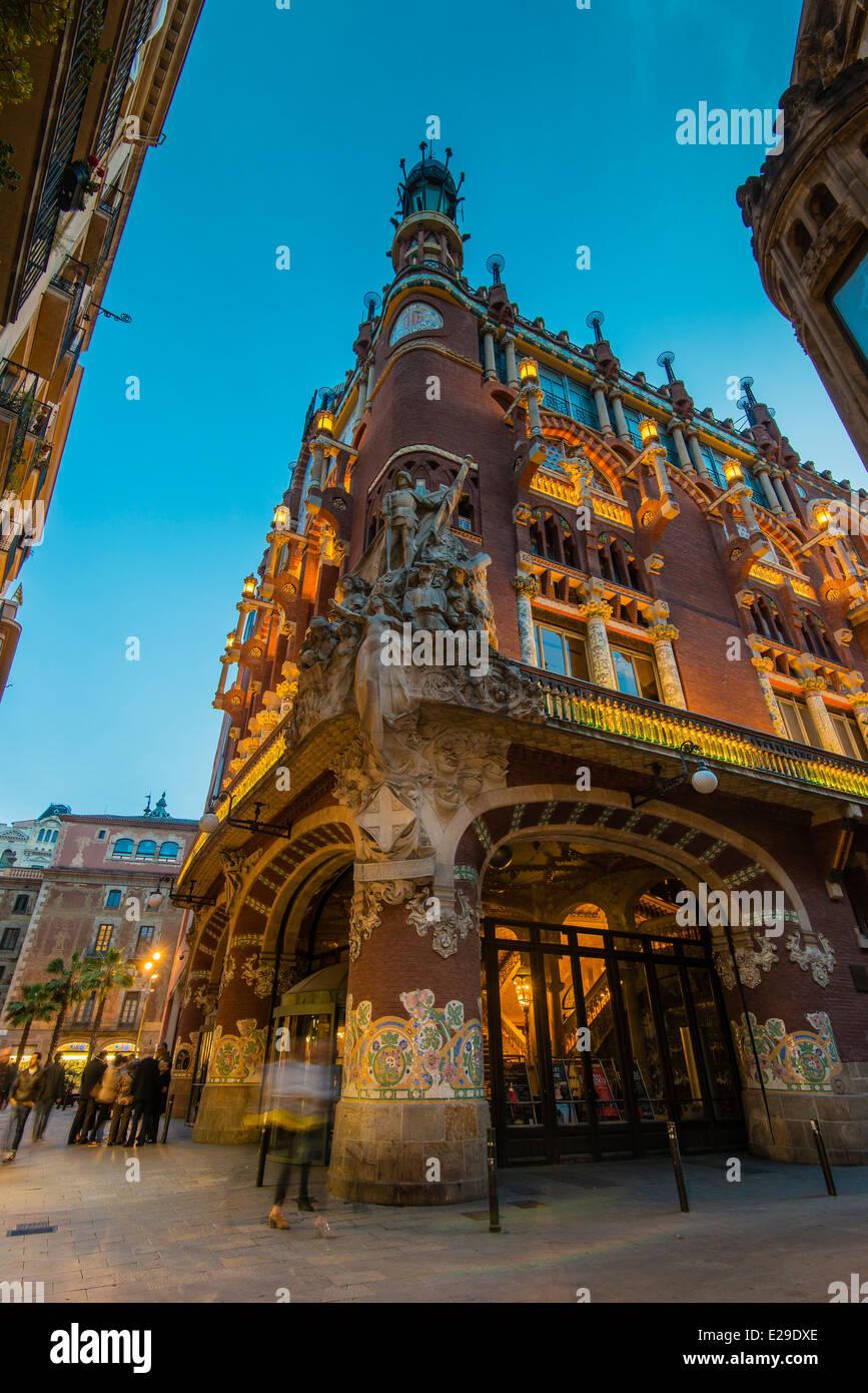 Palau de la Música Catalana o el Palacio de la Música Catalana Concert Hall, Barcelona, Cataluña, Imagen De Stock
