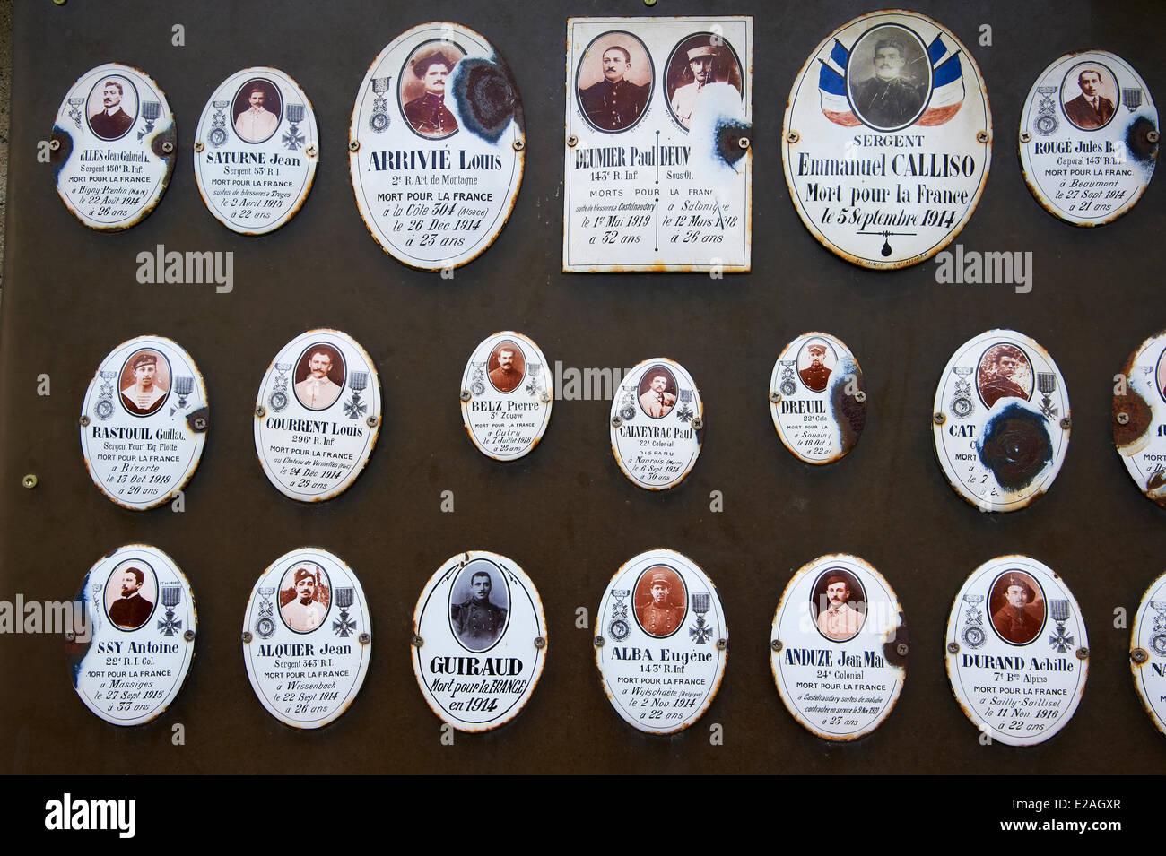 Francia, Aude, Castelnaudary, 14 18 monumento a las víctimas de la guerra Imagen De Stock