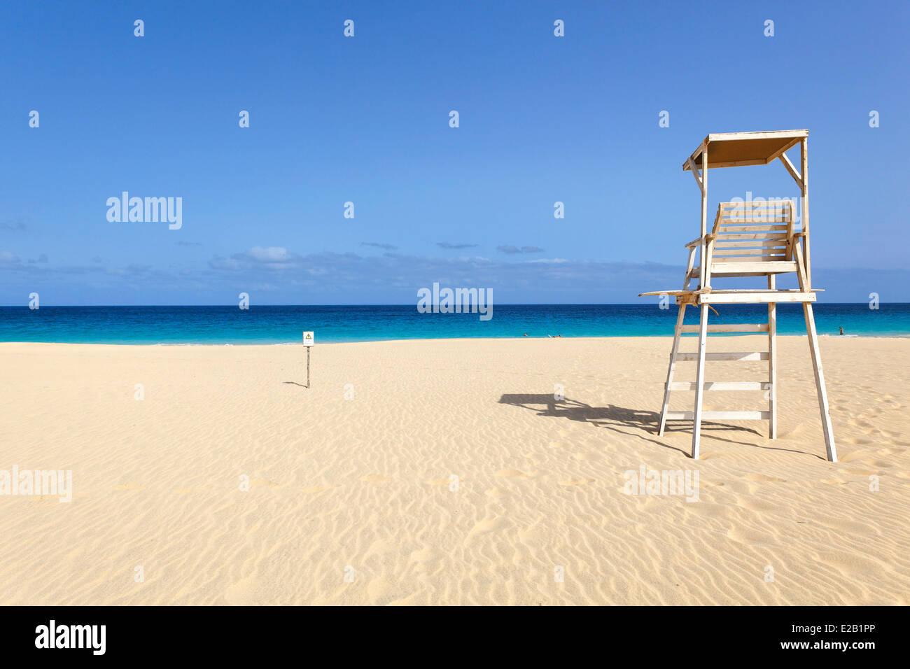 Cabo Verde, Sal, Santa Maria beach Imagen De Stock