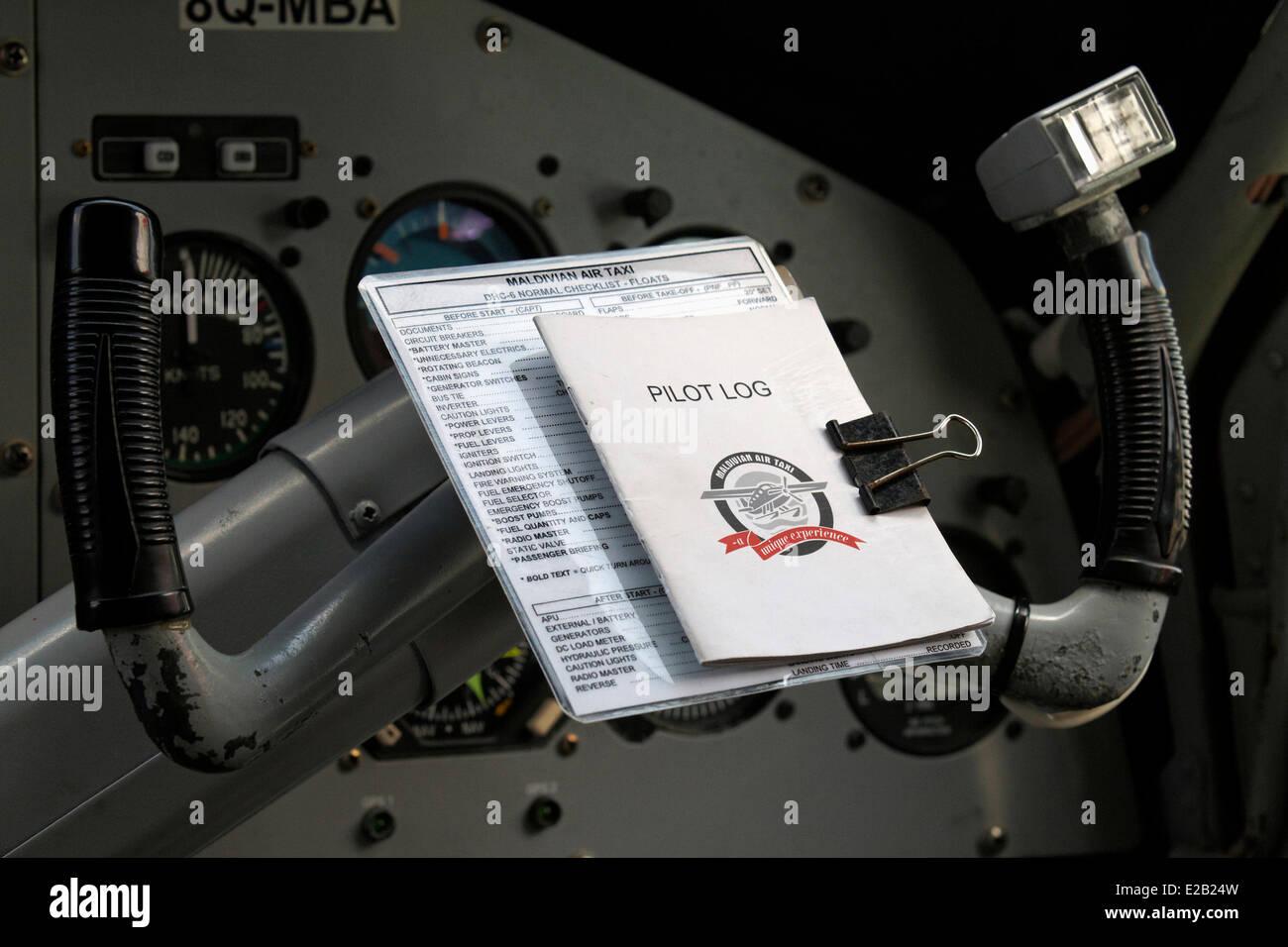 Maldivas, hidroavión de taxi aéreo de Maldivas company, detalles de cabina Imagen De Stock