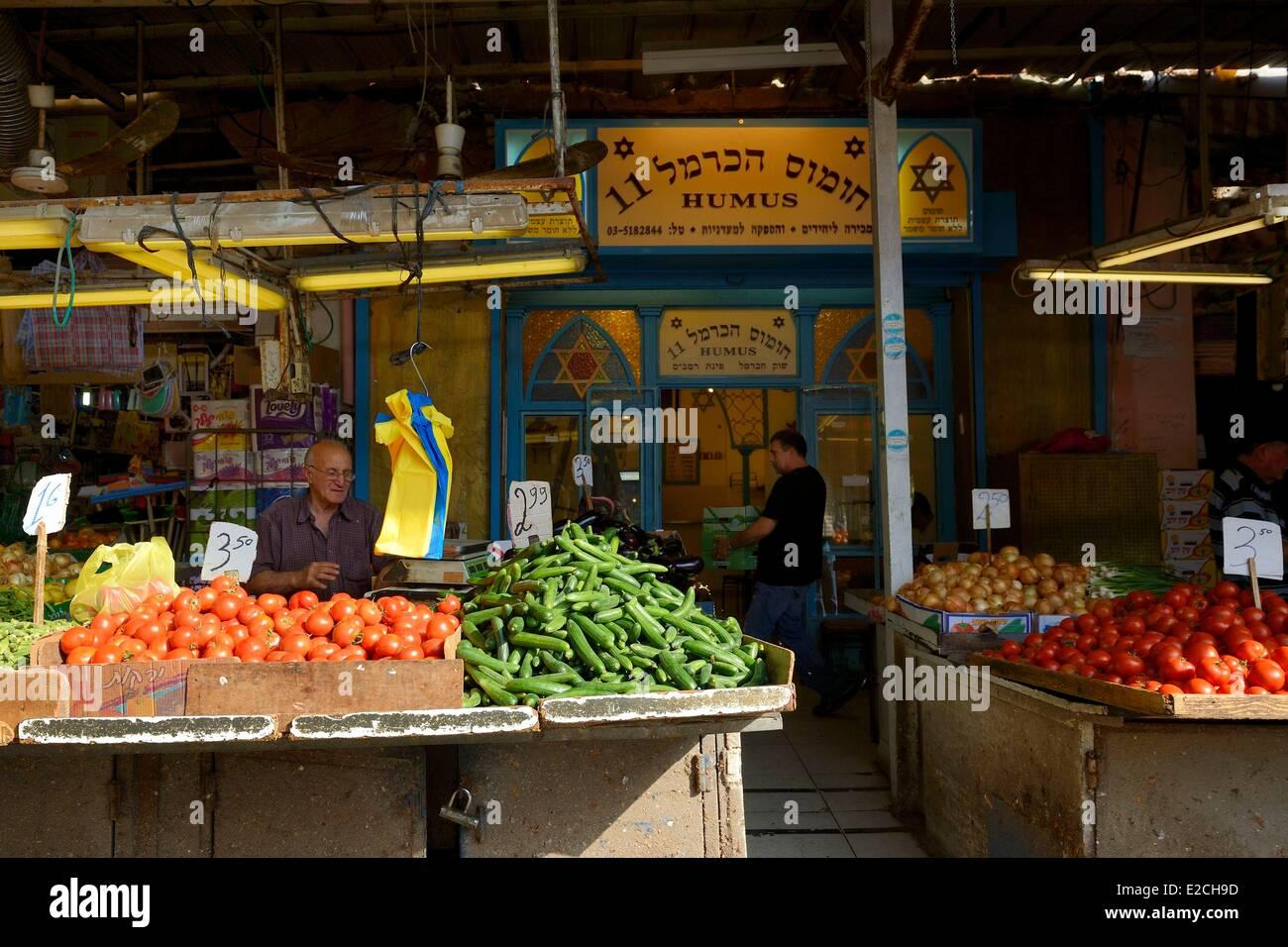 Israel, Tel Aviv, HaCarmel (Carmelo) en el mercado. Imagen De Stock