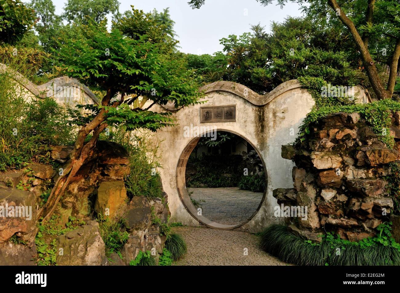 China, Suzhou, provincia de Jiangsu, el Jardín del Administrador Humilde listados como Patrimonio Mundial por Imagen De Stock
