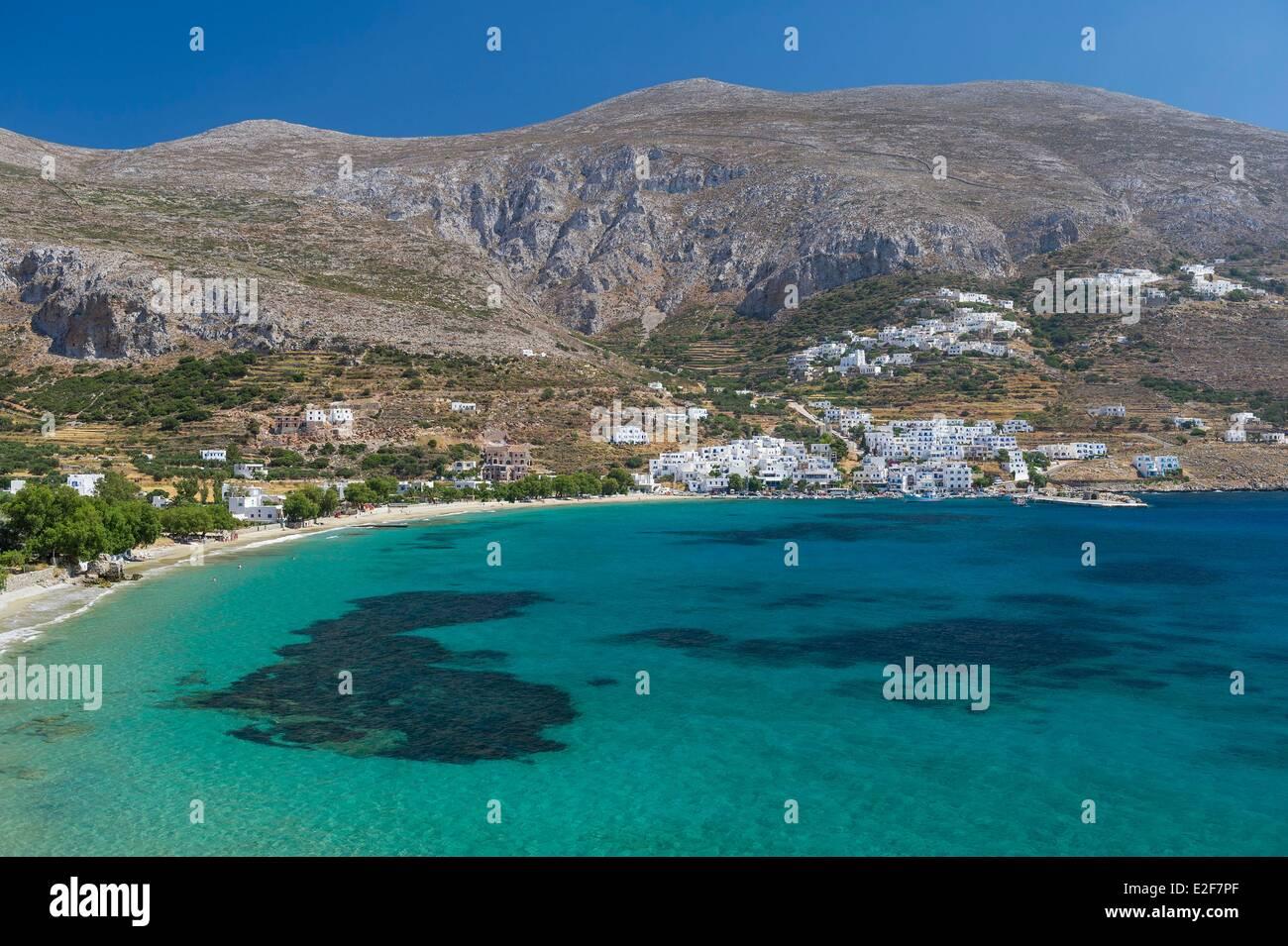 En Grecia, en las islas Cícladas, isla Amorgos Aegiali bay Imagen De Stock