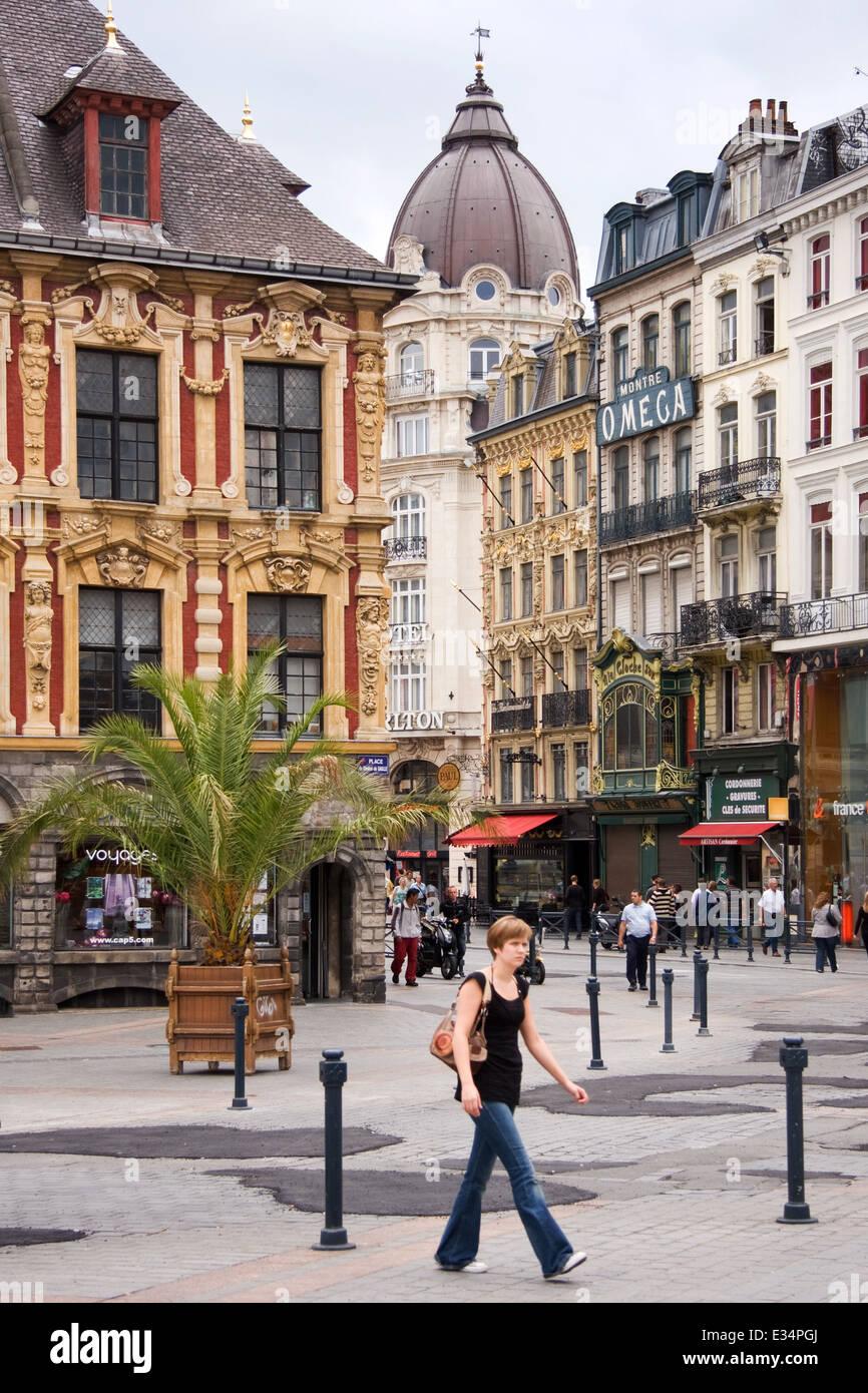 La Grand Place de Lille Francia Imagen De Stock