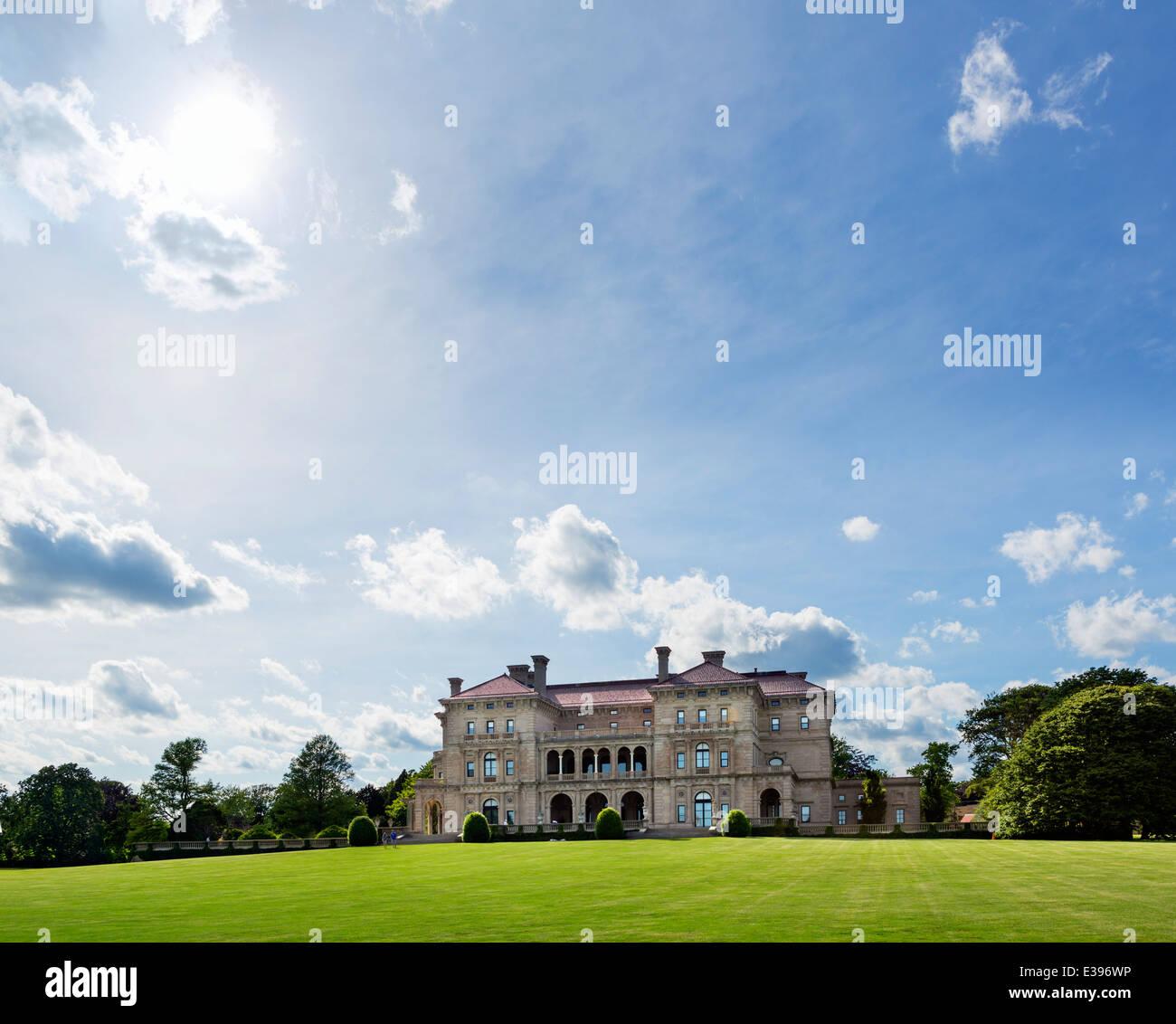 El Breakers, mansión histórica y la casa de verano de Cornelius Vanderbilt II, en Newport, Rhode Island, Imagen De Stock