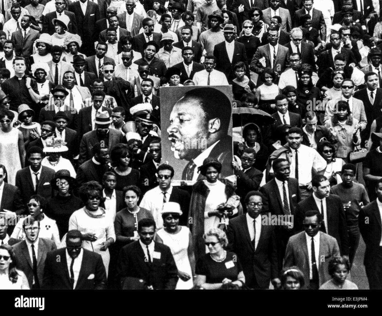 El funeral de Martin Luther King, de Atlanta, Georgia, 9 de abril de 1968 Imagen De Stock