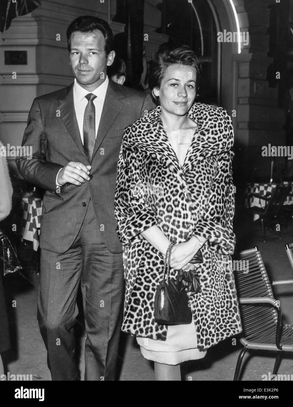 Annie Girardot y Renato salvatori,Roma,60's Foto de stock