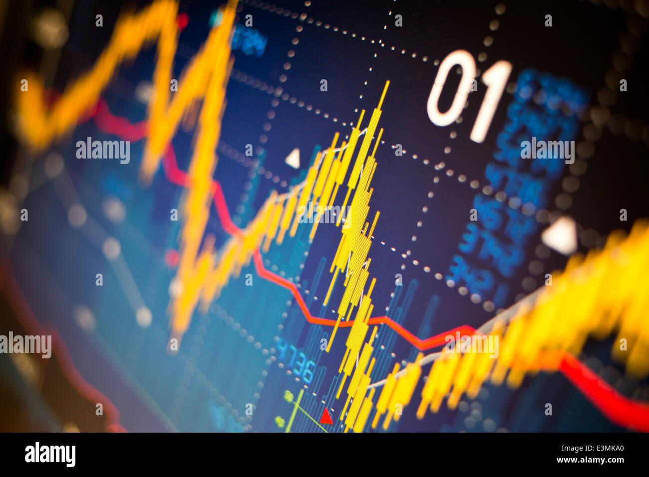 Índice bursátil gráficos de fondo. Imagen De Stock