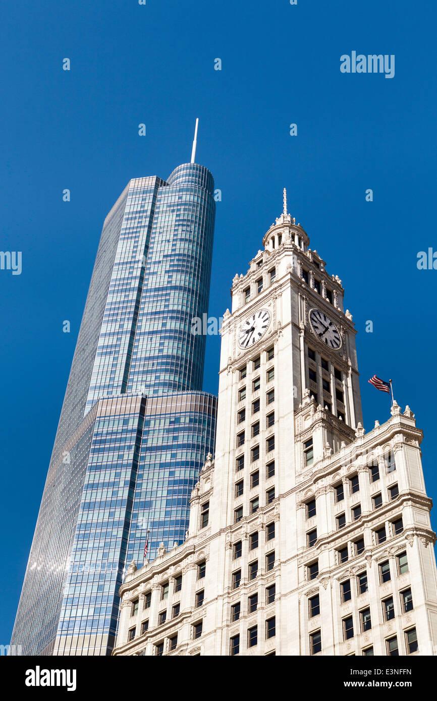 Chicago, Illinois, Estados Unidos de América, el Centro de arquitectura Imagen De Stock