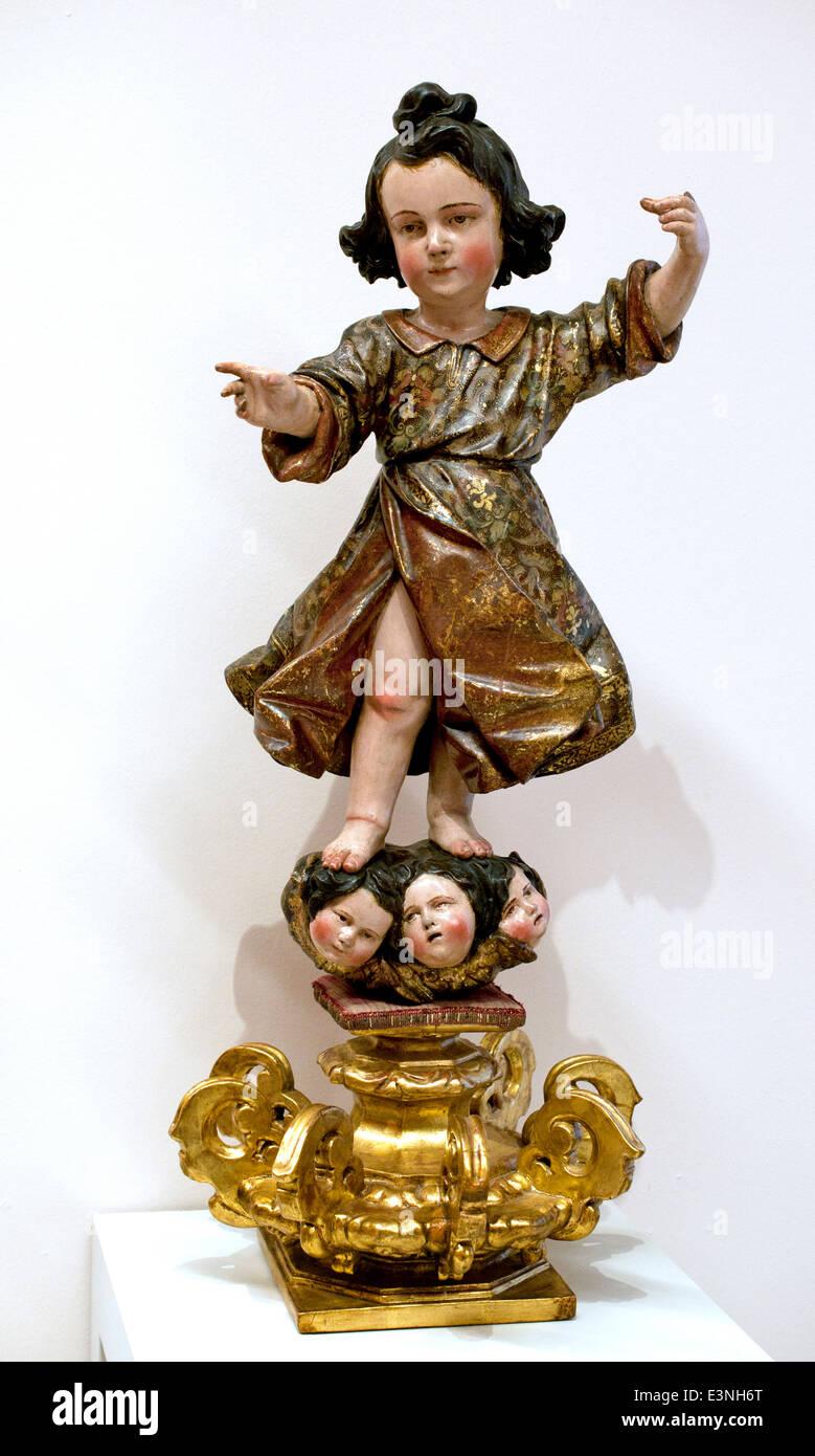 Anónimo Nino Jesús vestido -Niño Jesús anónimo vestidos 1650 España Imagen De Stock