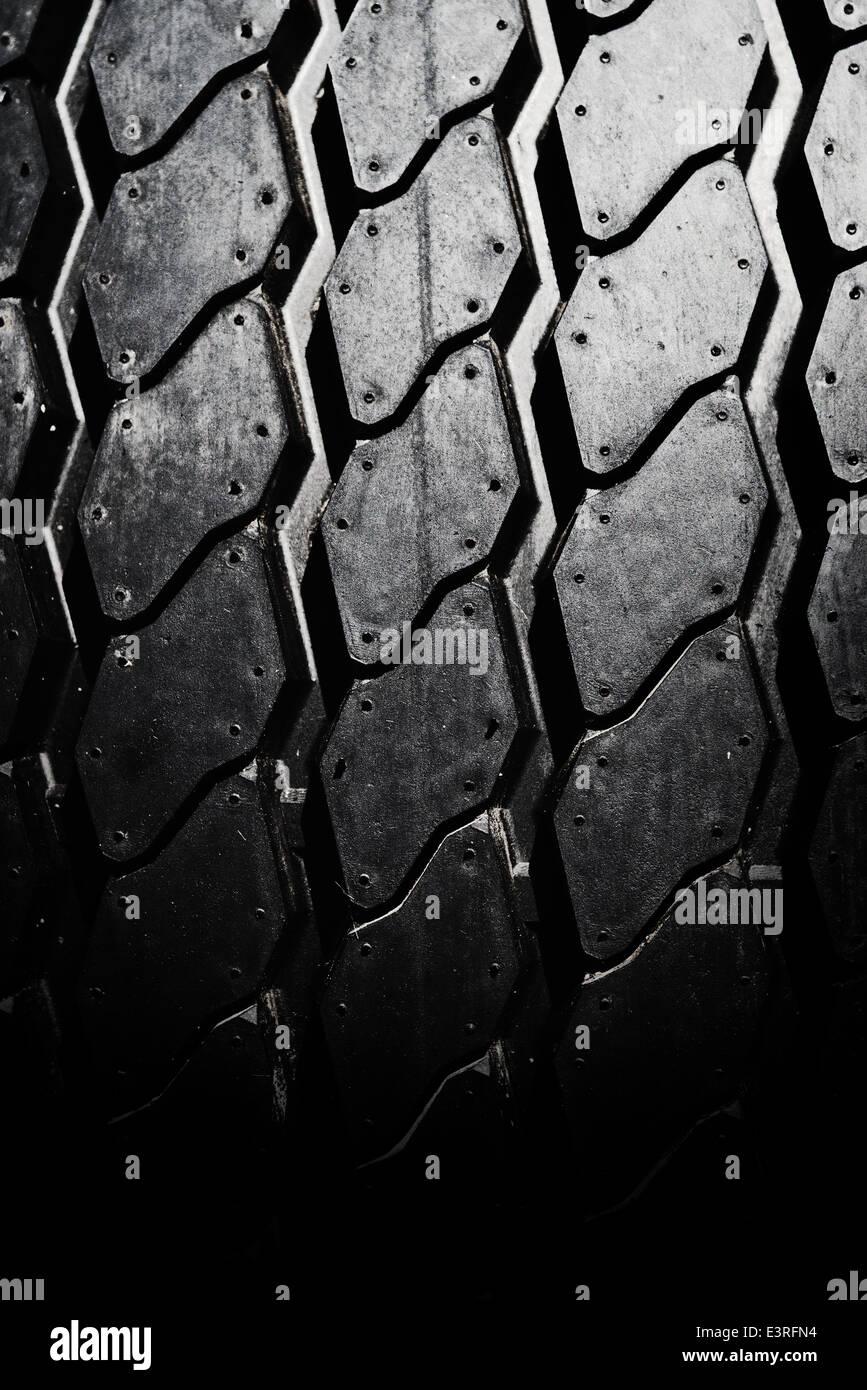 Nuevo neumático de coche cerca de textura Foto de stock