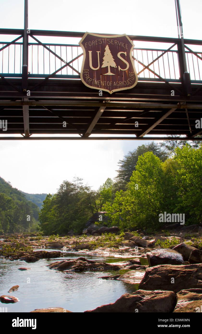 Oriente Ocoee River donde los 1996 Juegos Olímpicos de verano en Atlanta, EE.UU se encuentra Foto de stock