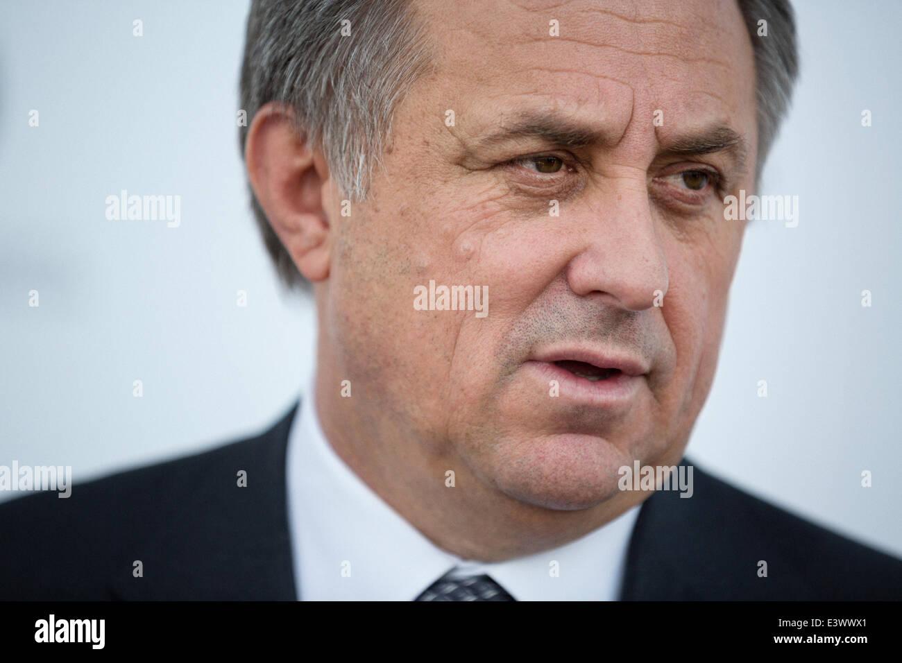 Rusia. El 30 de junio de 2014. Vitaly Mutko, Ministro de Deporte, Turismo y política de la Juventud de la Federación Imagen De Stock
