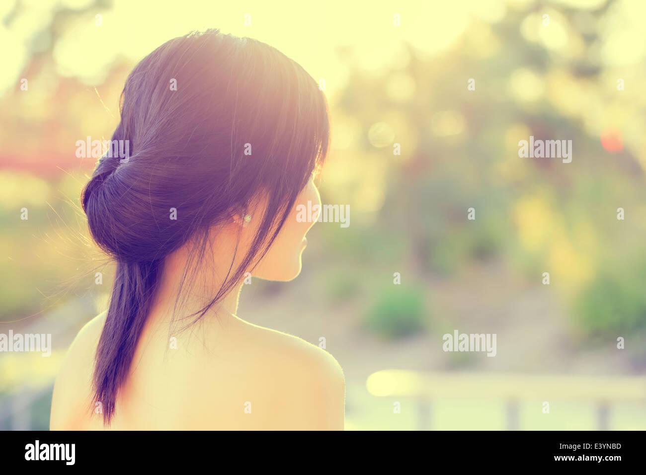 Retrato de muchacha asiática Foto de stock