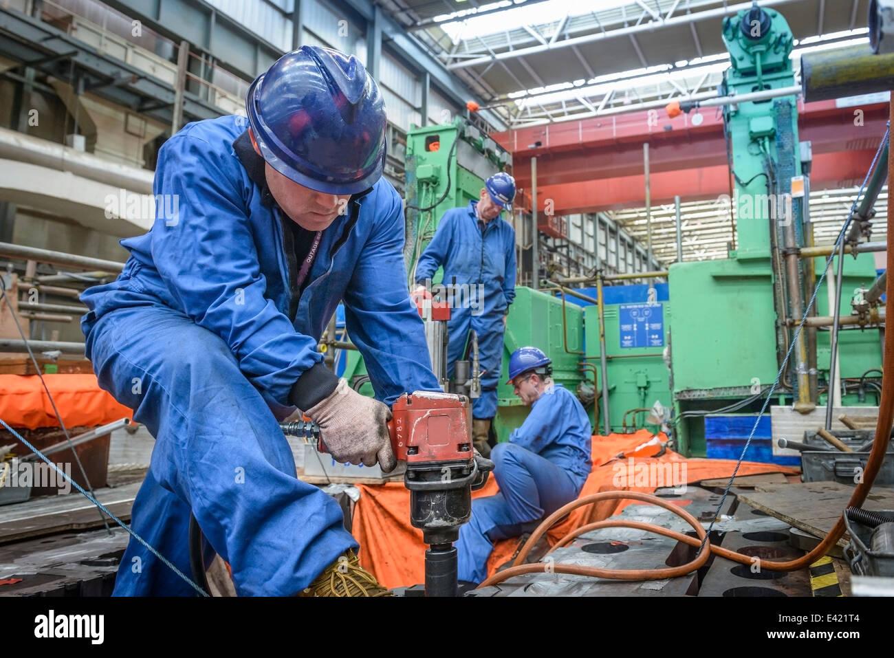 Ingeniero de perforación de indisponibilidad durante la estación de energía Imagen De Stock
