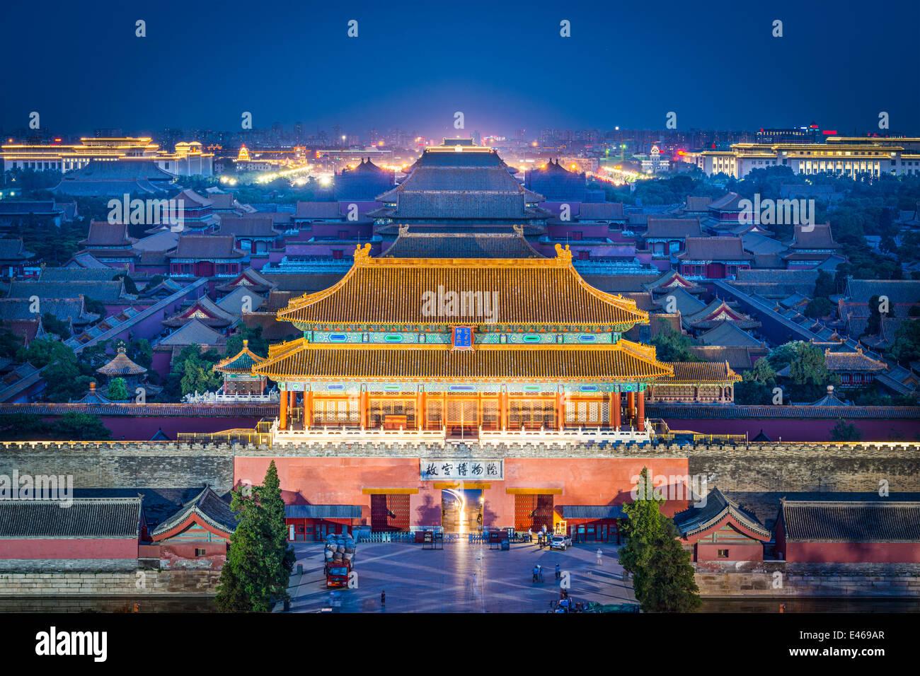 Beijing, China, en la puerta norte de la Ciudad Imperial. Imagen De Stock