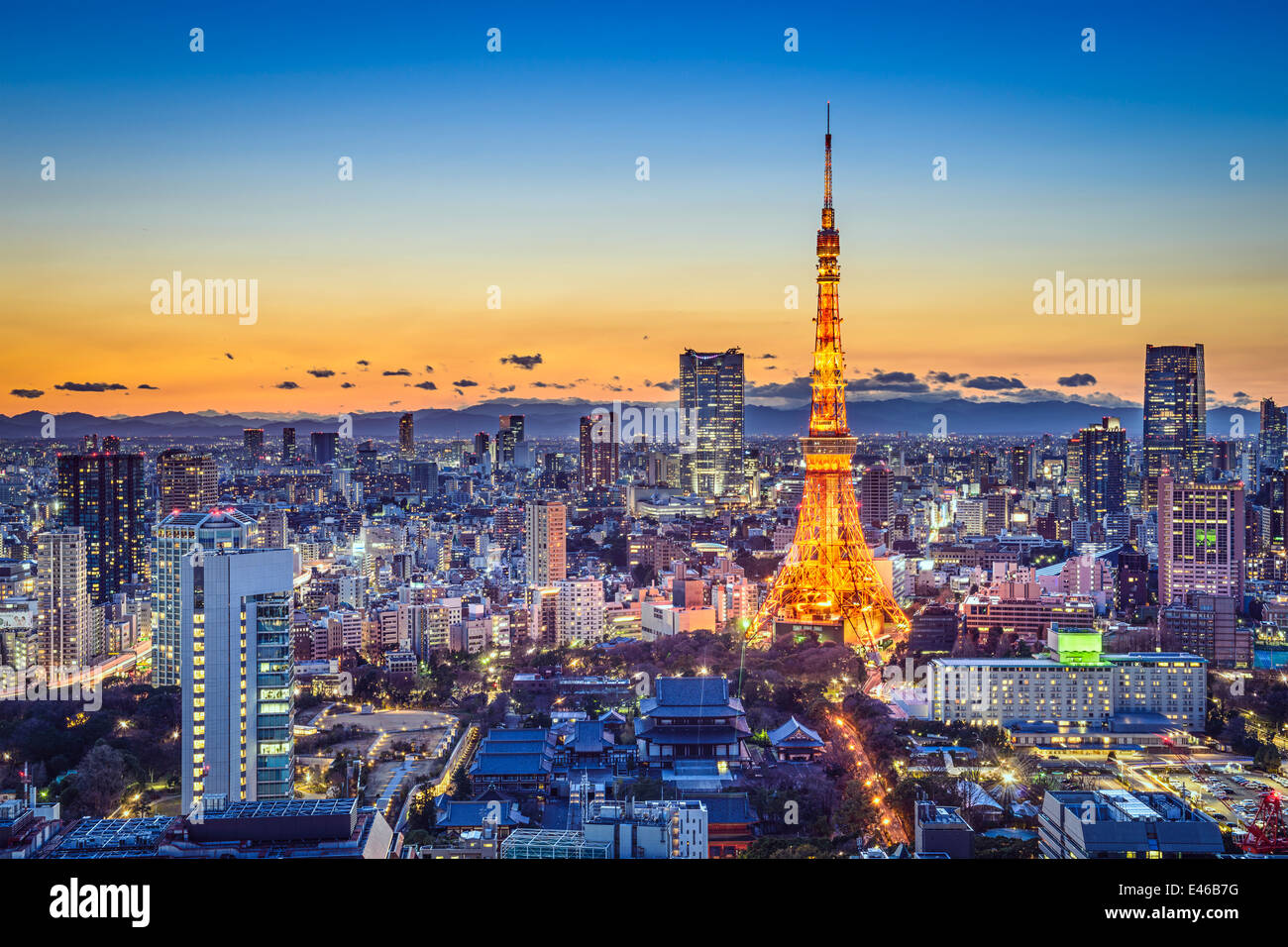 El horizonte de la ciudad de Tokio, Japón Imagen De Stock