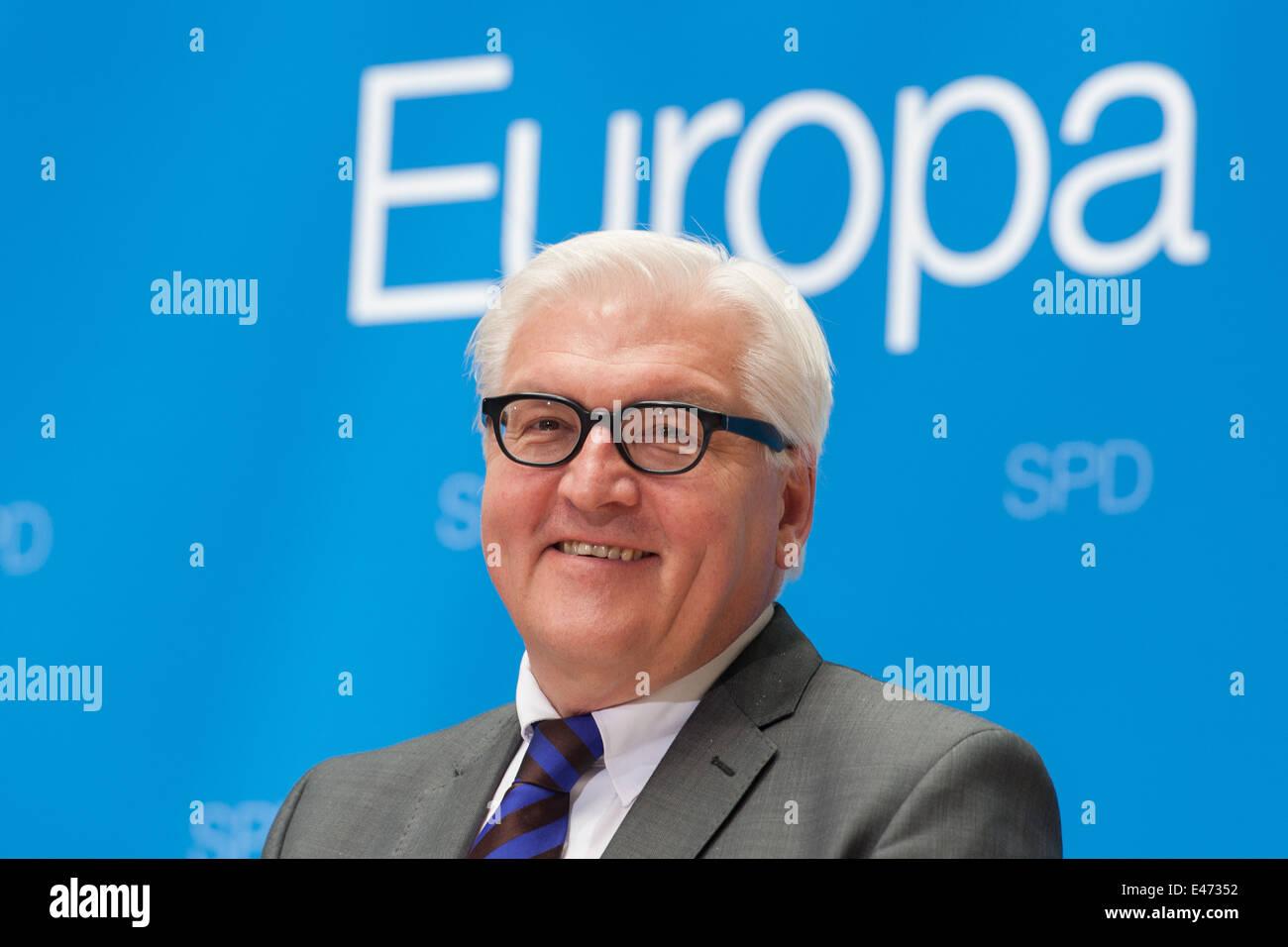 Berlín, Alemania, el Ministro de Relaciones Exteriores alemán, Frank-Walter Steinmeier, SPD Foto de stock