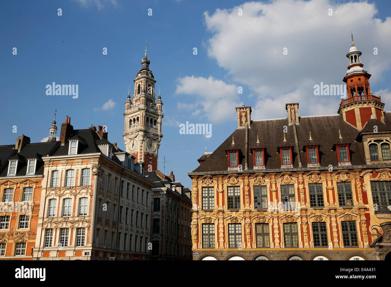 La Grand Place de Lille, Nord, Francia, Europa Imagen De Stock
