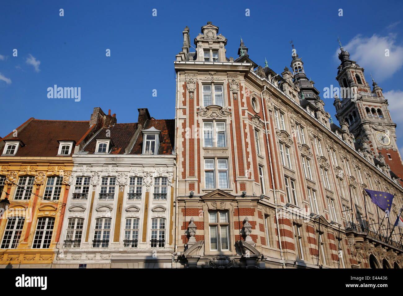 La Cámara de Comercio de Lille, Lille Nord, Francia, Europa Imagen De Stock