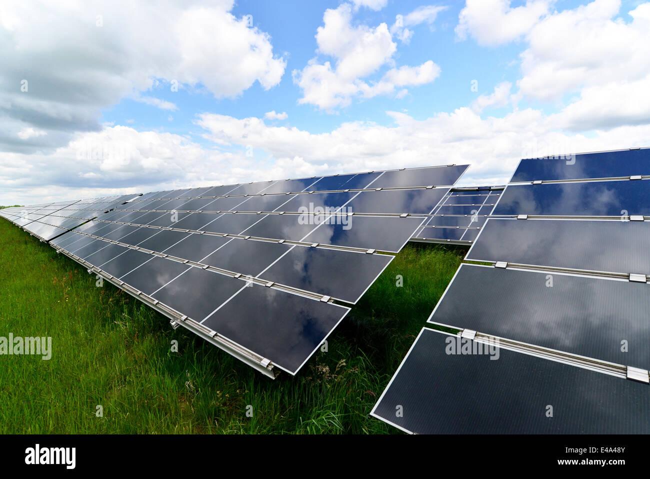 Alemania, con células fotoeléctricas de planta de energía solar Imagen De Stock