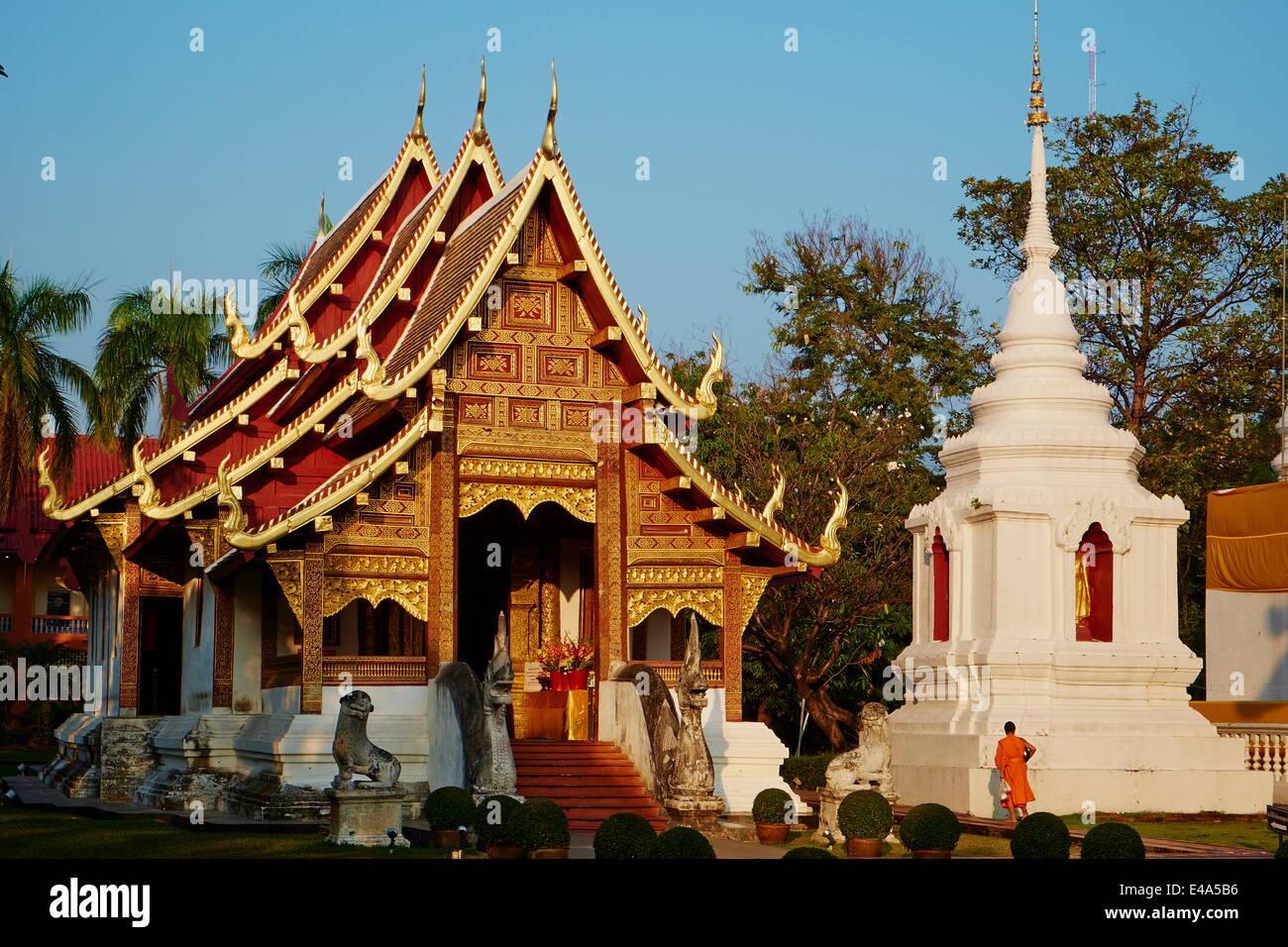 Wat Phra Singh, Chiang Mai, Tailandia, en el sudeste de Asia, Asia Foto de stock