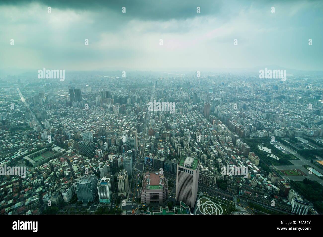 Vistas desde la torre Taipei 101, Taipei, Taiwán, Asia Imagen De Stock