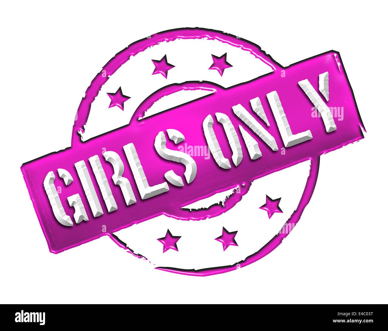 Sello - solo chicas Foto de stock