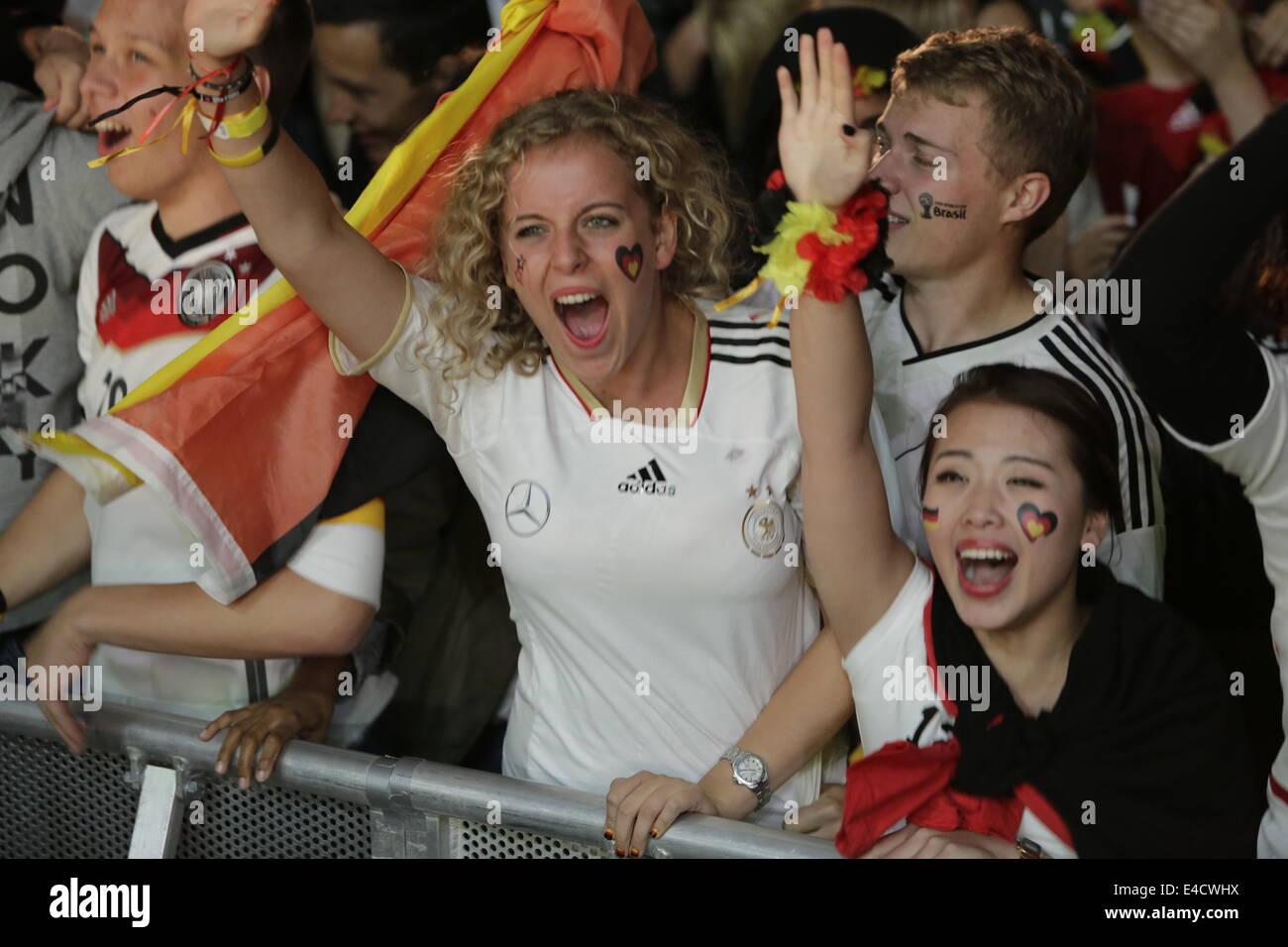Frankfurt, Alemania  8 de julio de 2014  Fans alemanes