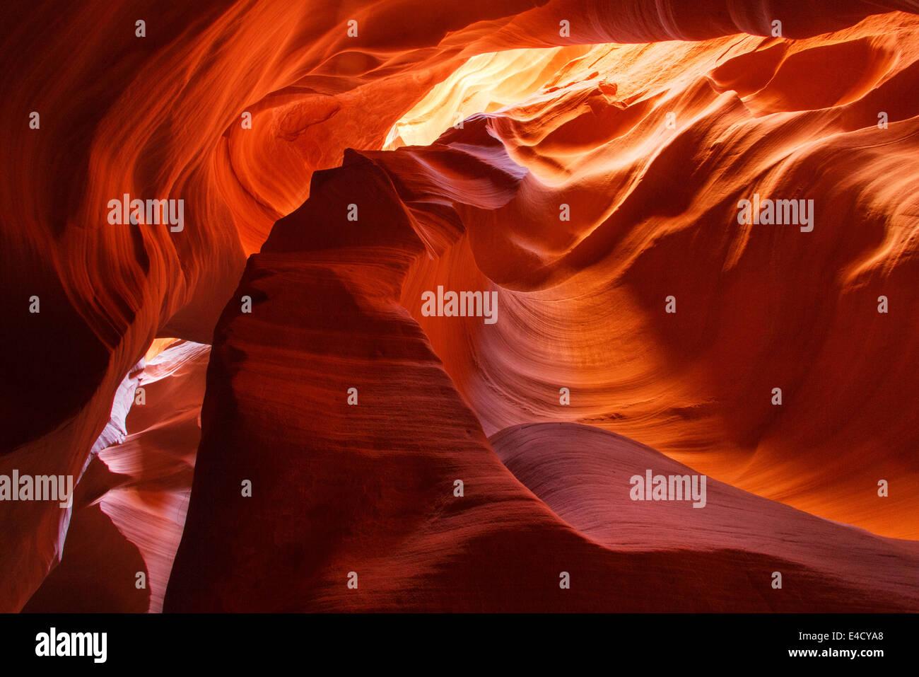 Cañón de ranura,Park Land Navajo, Page, Arizona. Imagen De Stock