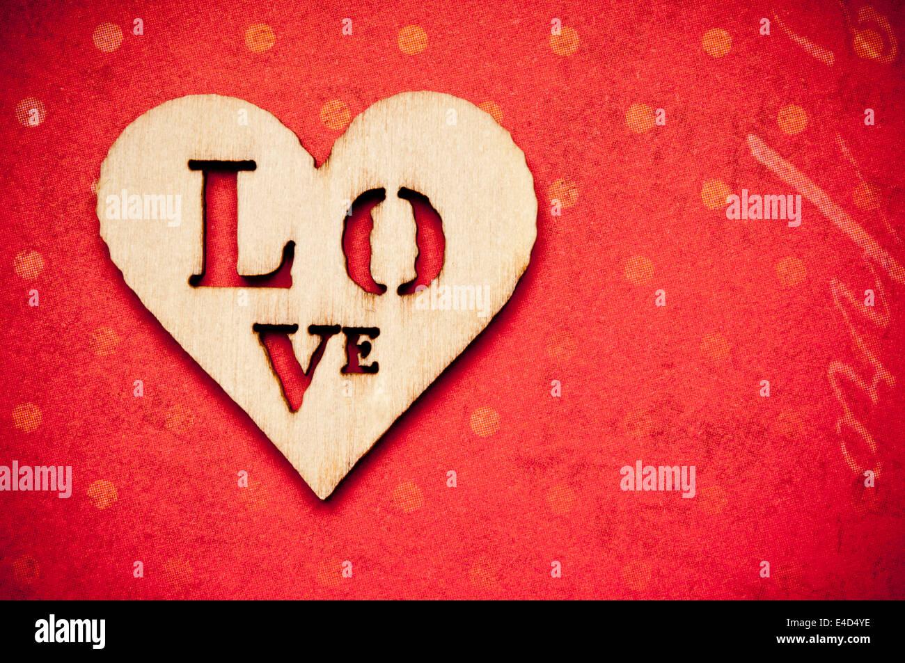 En forma de corazón de San Valentín, el amor concepto Imagen De Stock