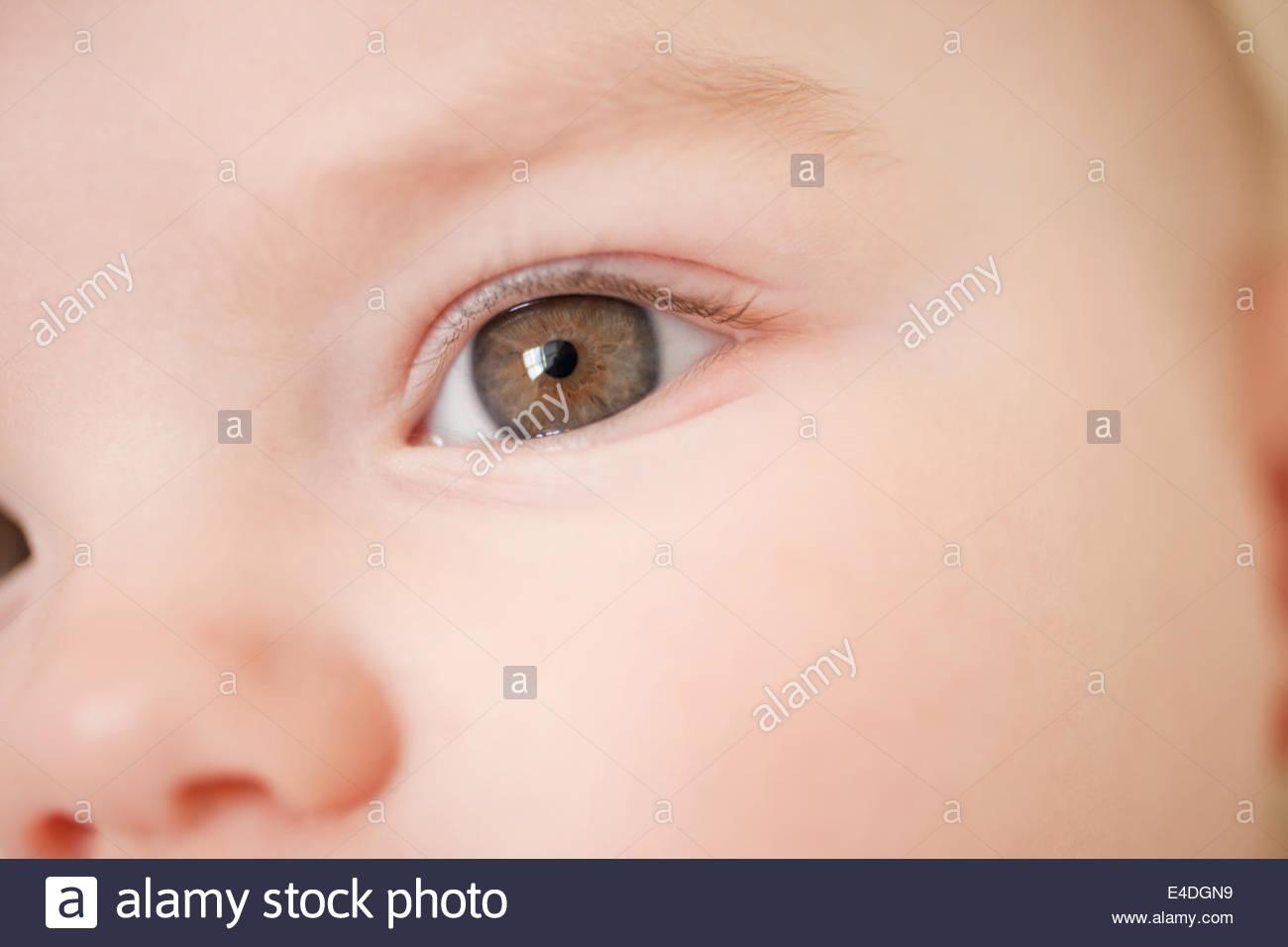 Cerca del ojo del bebé Imagen De Stock