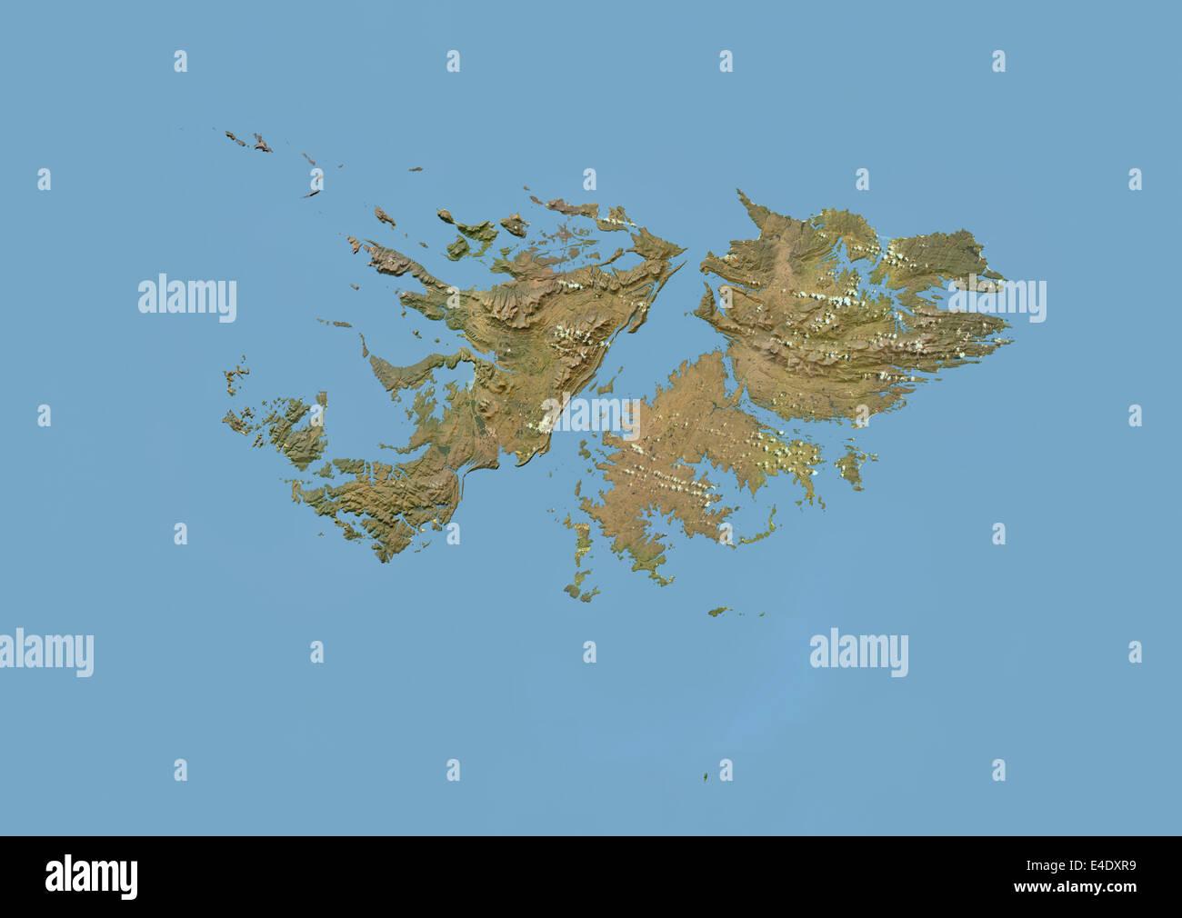 Imagen De Satelite De Las Islas Malvinas Con Bump Efecto Fotografia De Stock Alamy