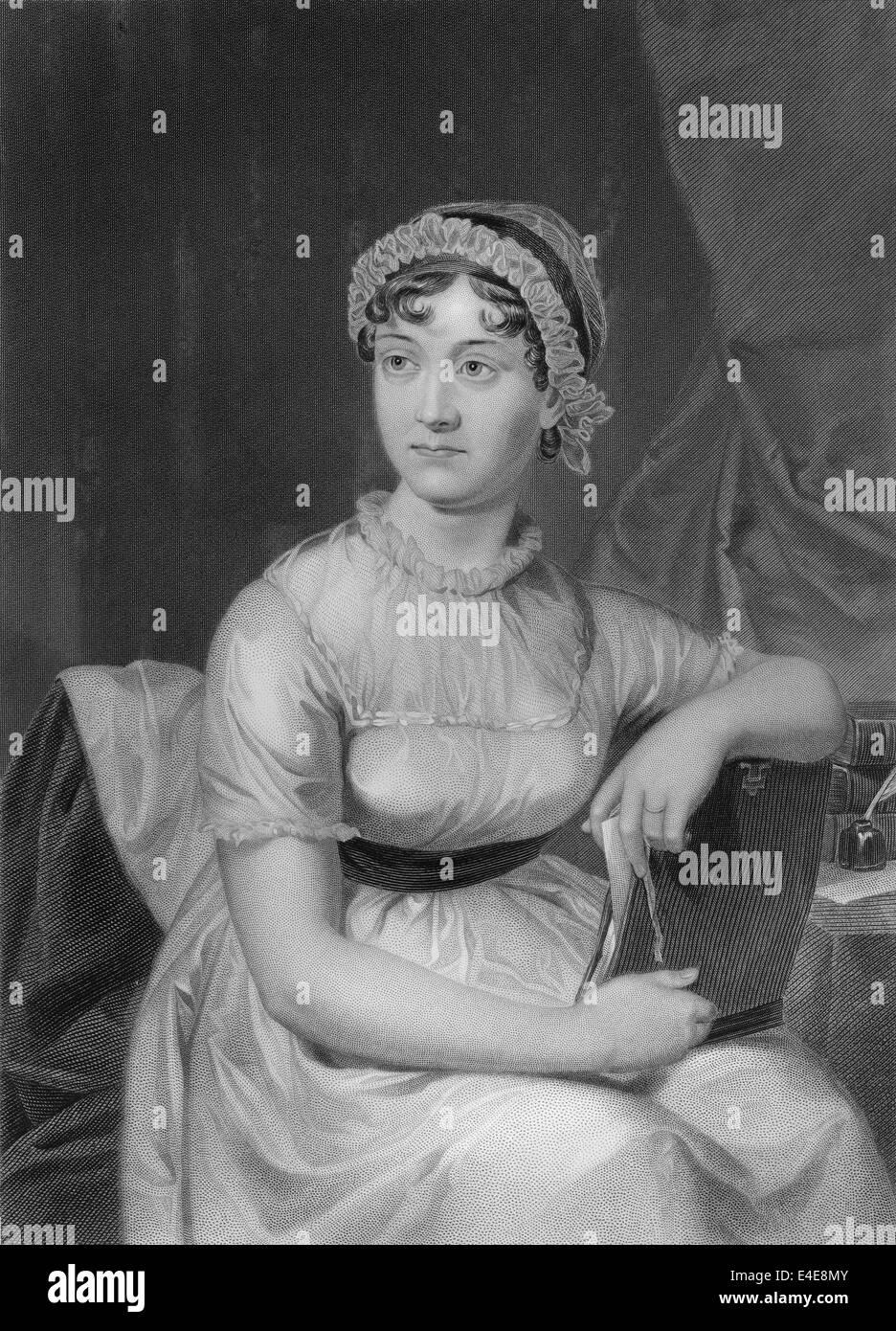 Jane Austen, 1775 - 1817, un novelista inglés Imagen De Stock