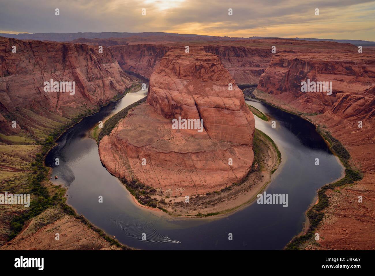Horseshoe Bend, Río Colorado, cerca de Page, Arizona, EE.UU. Imagen De Stock