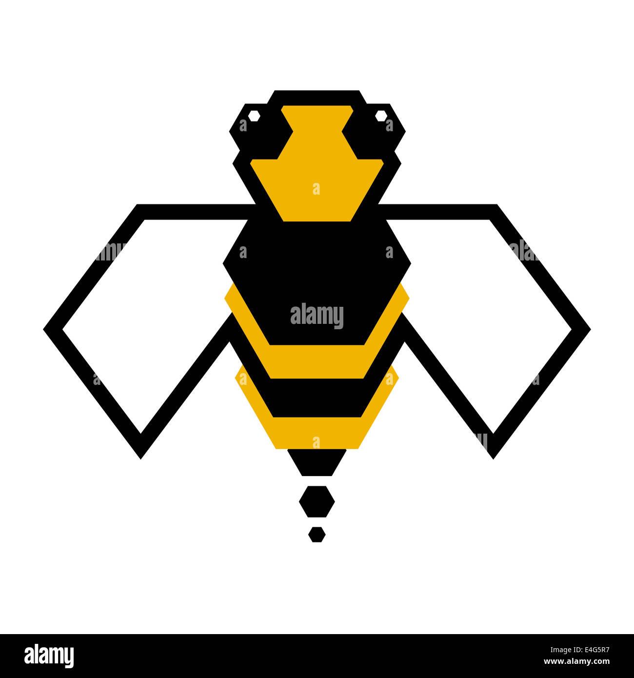 Logotipo de la abeja Imagen De Stock