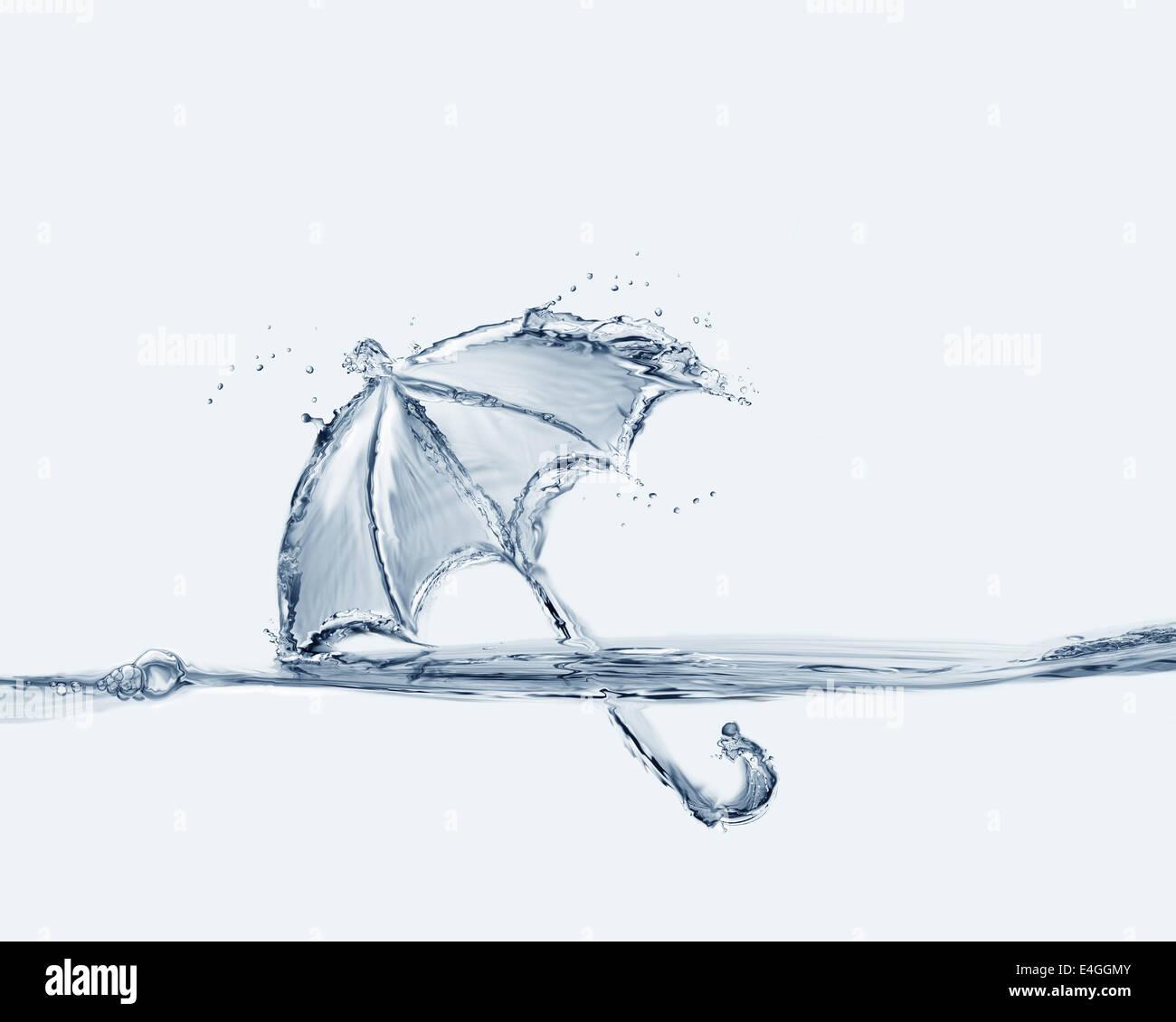 Agua Azul paraguas Foto de stock
