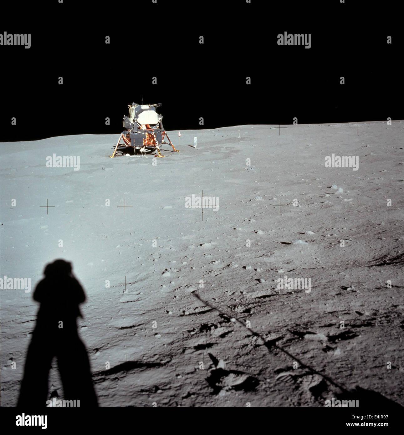 Misión espacial Apolo 11 Foto de stock