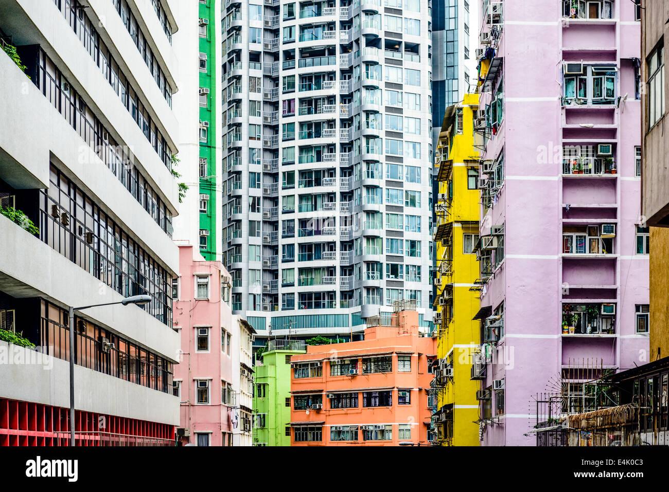Resumen edificios en Hong Kong, China. Imagen De Stock