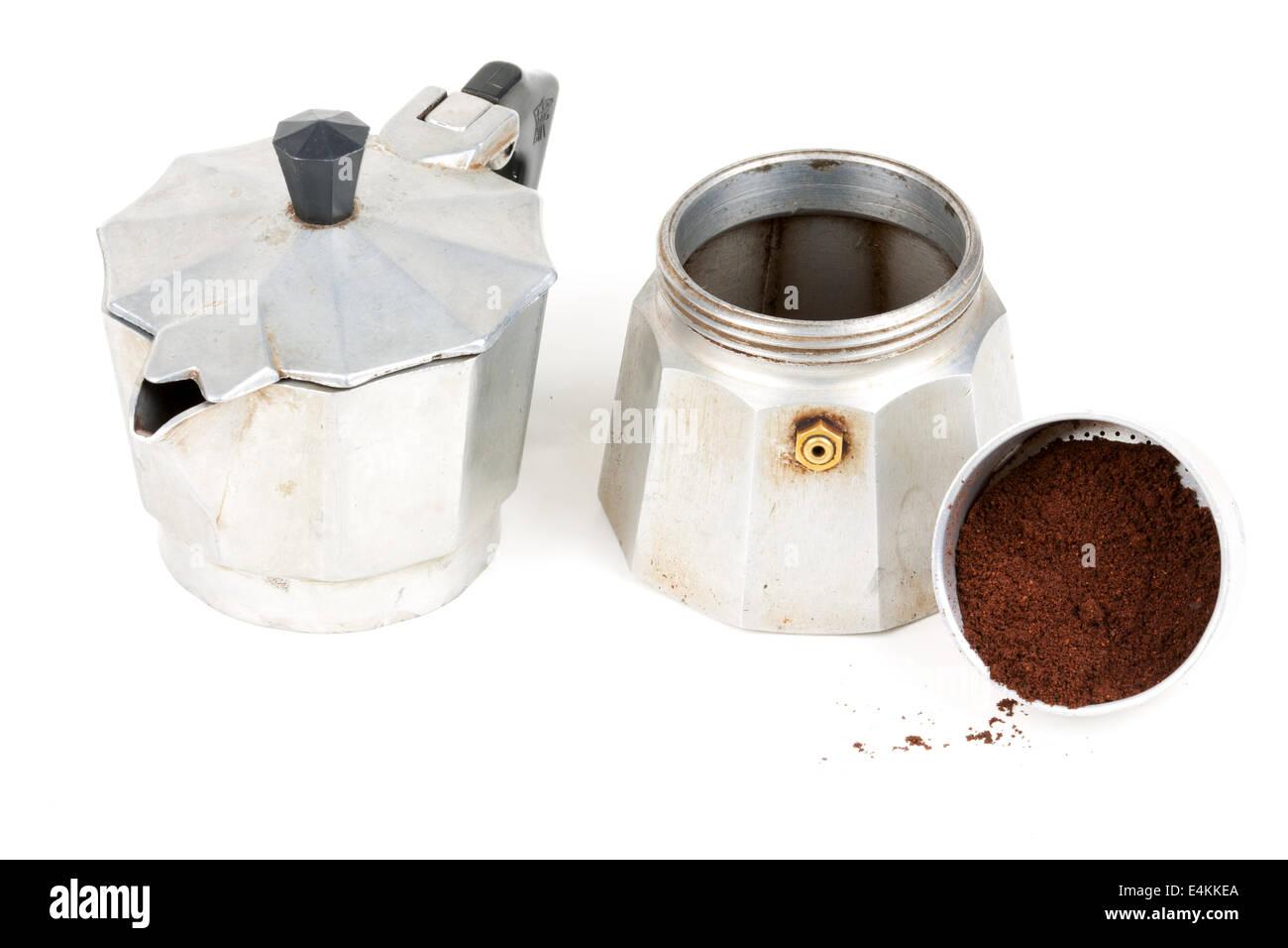 Cafetera Vieja Fotos e Imágenes de stock Alamy