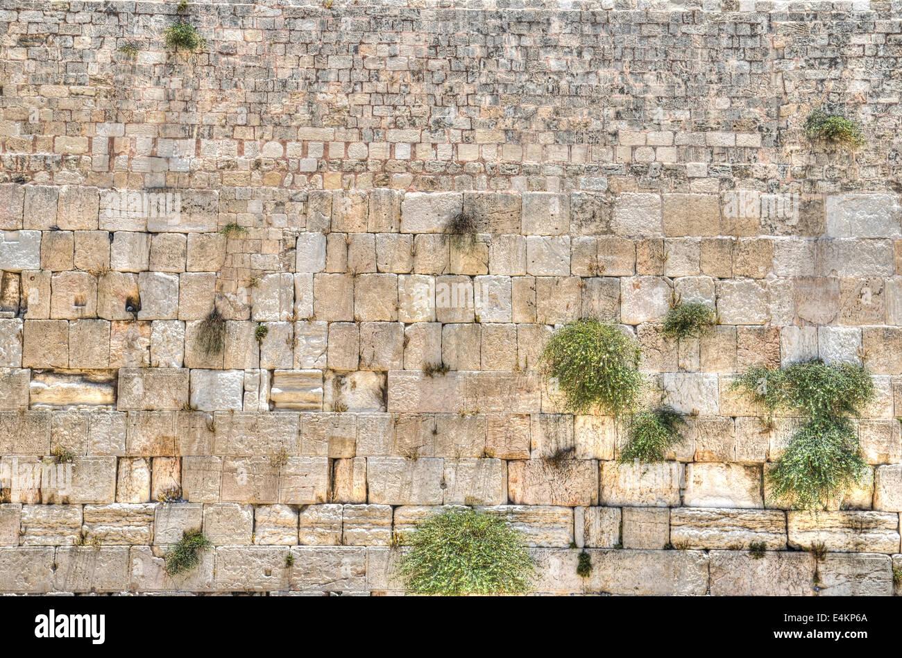 El Muro Occidental, la Ciudad Vieja de Jerusalén, Israel Foto de stock
