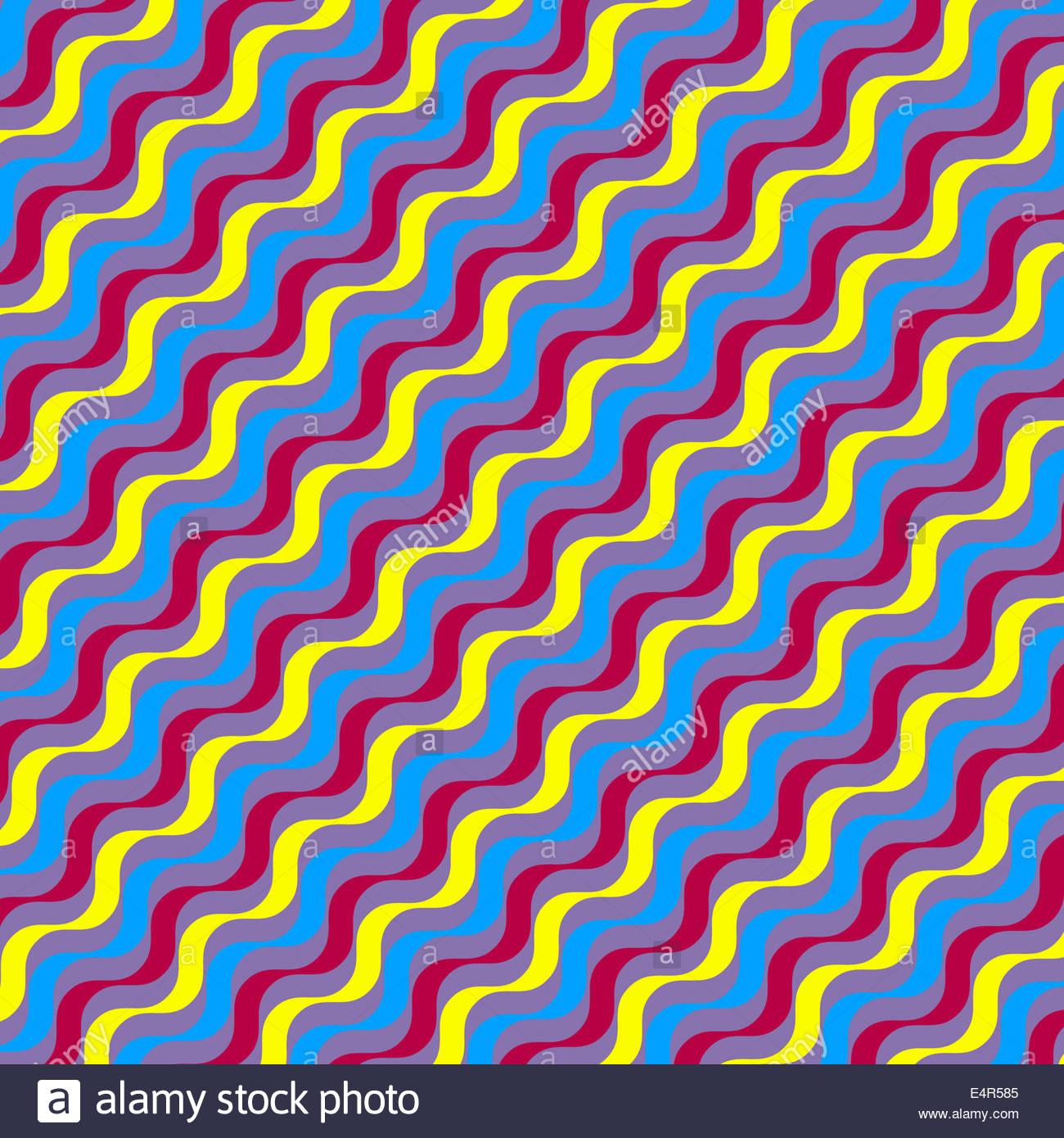Resumen Antecedentes El patrón de repetición de líneas onduladas Imagen De Stock