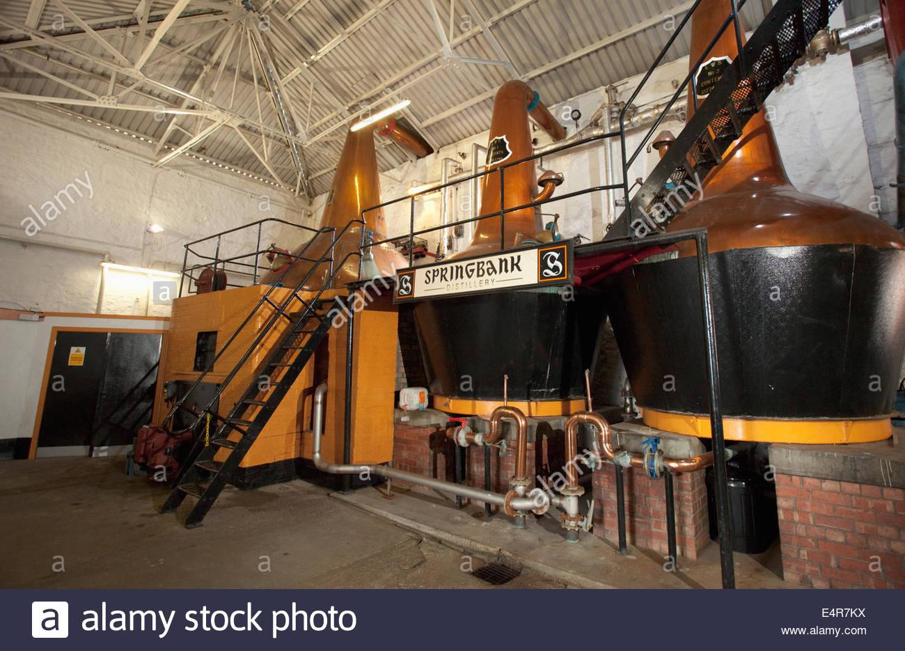 La habitación todavía en la Destilería Springbank, Campbeltown, Kintyre, Argyll, Escocia. Imagen De Stock