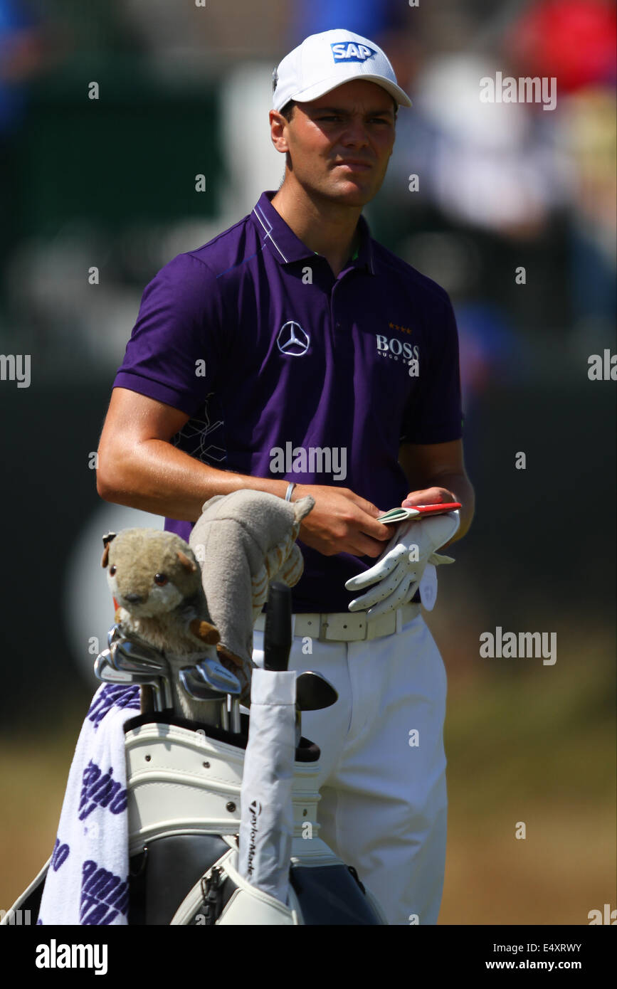 MARTIN KAYMER HOYLAKE British Open de Golf Royal Liverpool Inglaterra 17 de julio de 2014 Imagen De Stock