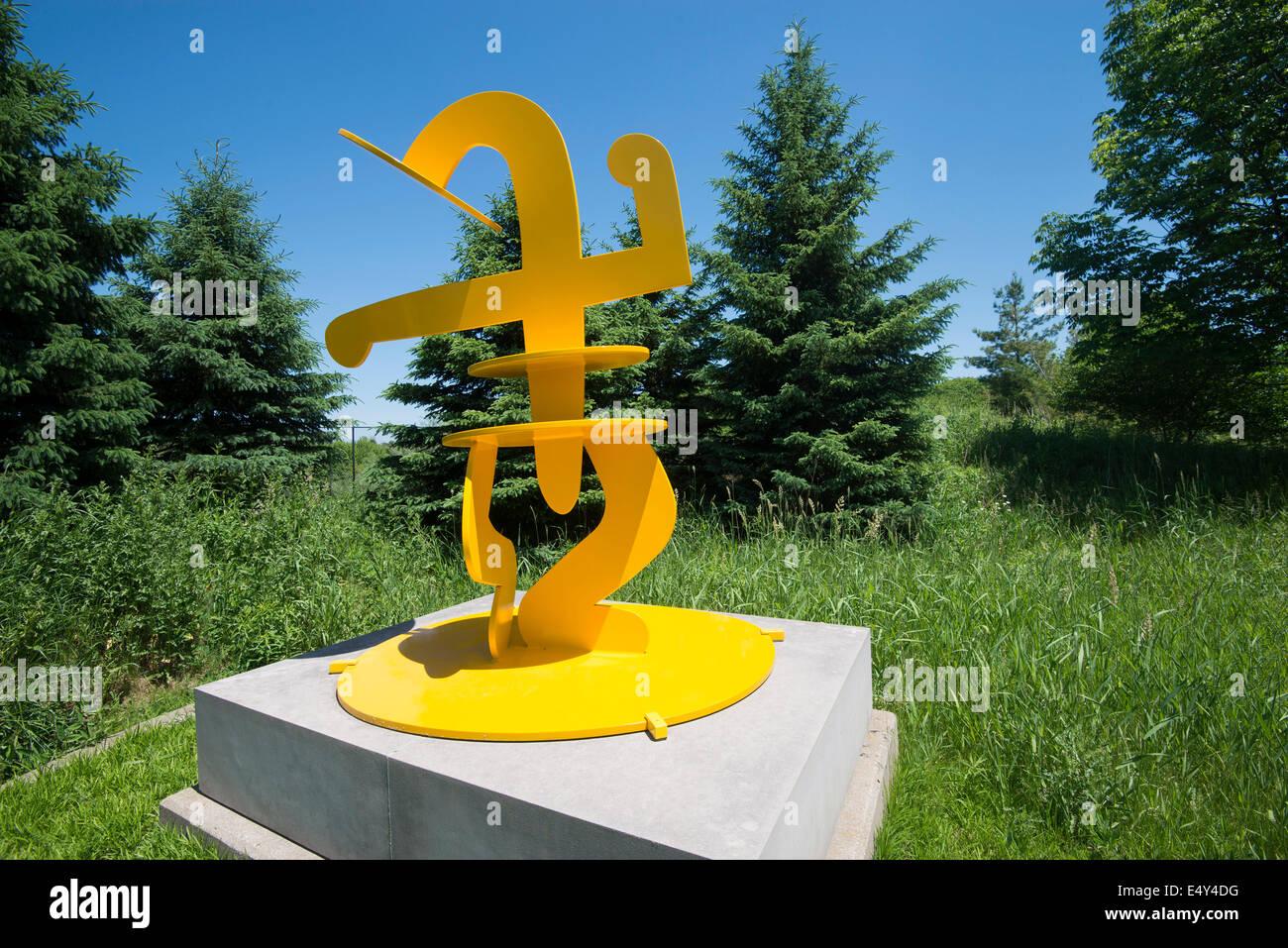 Escultura en El Frederik Meijer Gardens & Sculpture Park. Grand Rapids, Michigan, Estados Unidos. Foto de stock