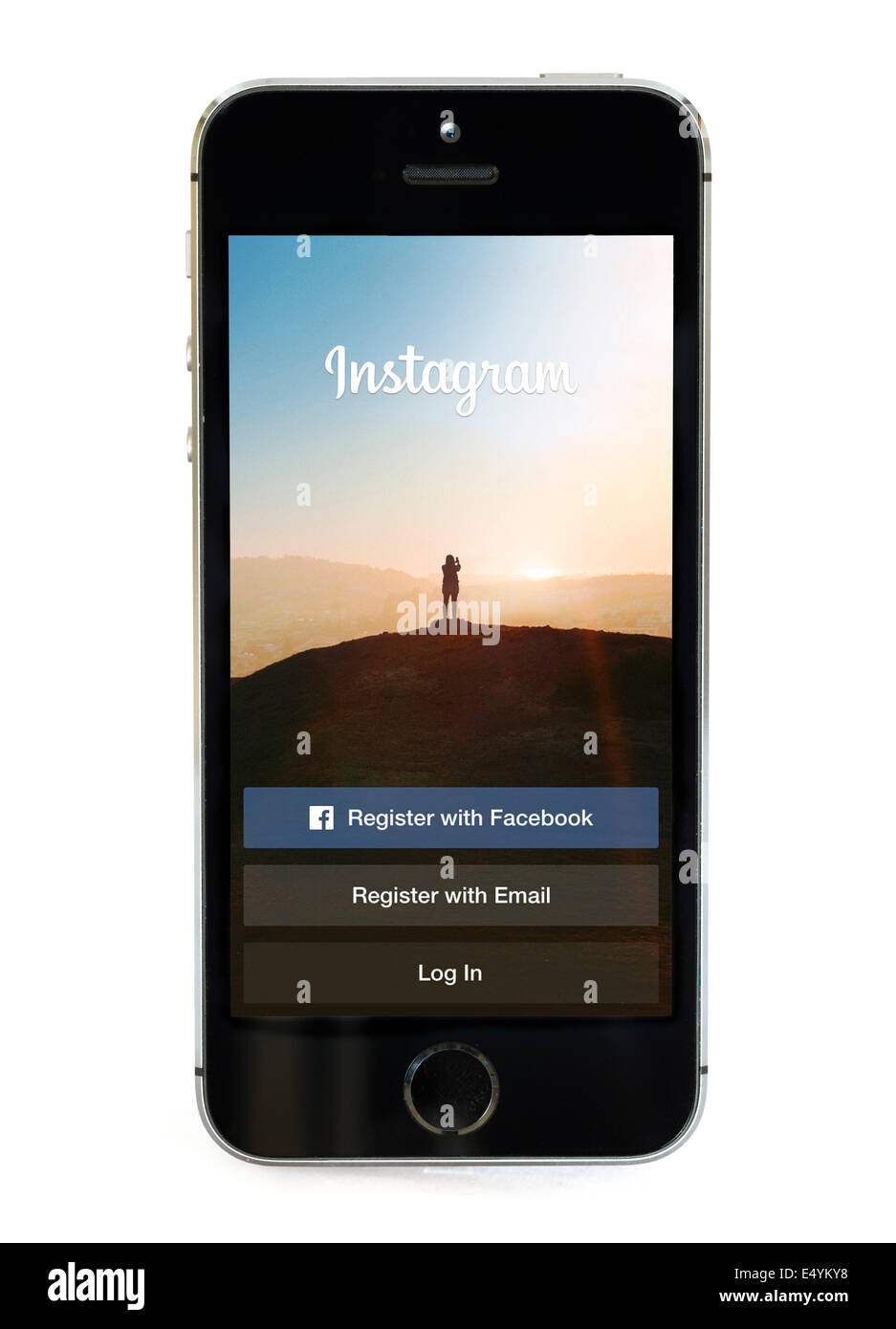 Instagram app en un Apple iPhone 5S Imagen De Stock
