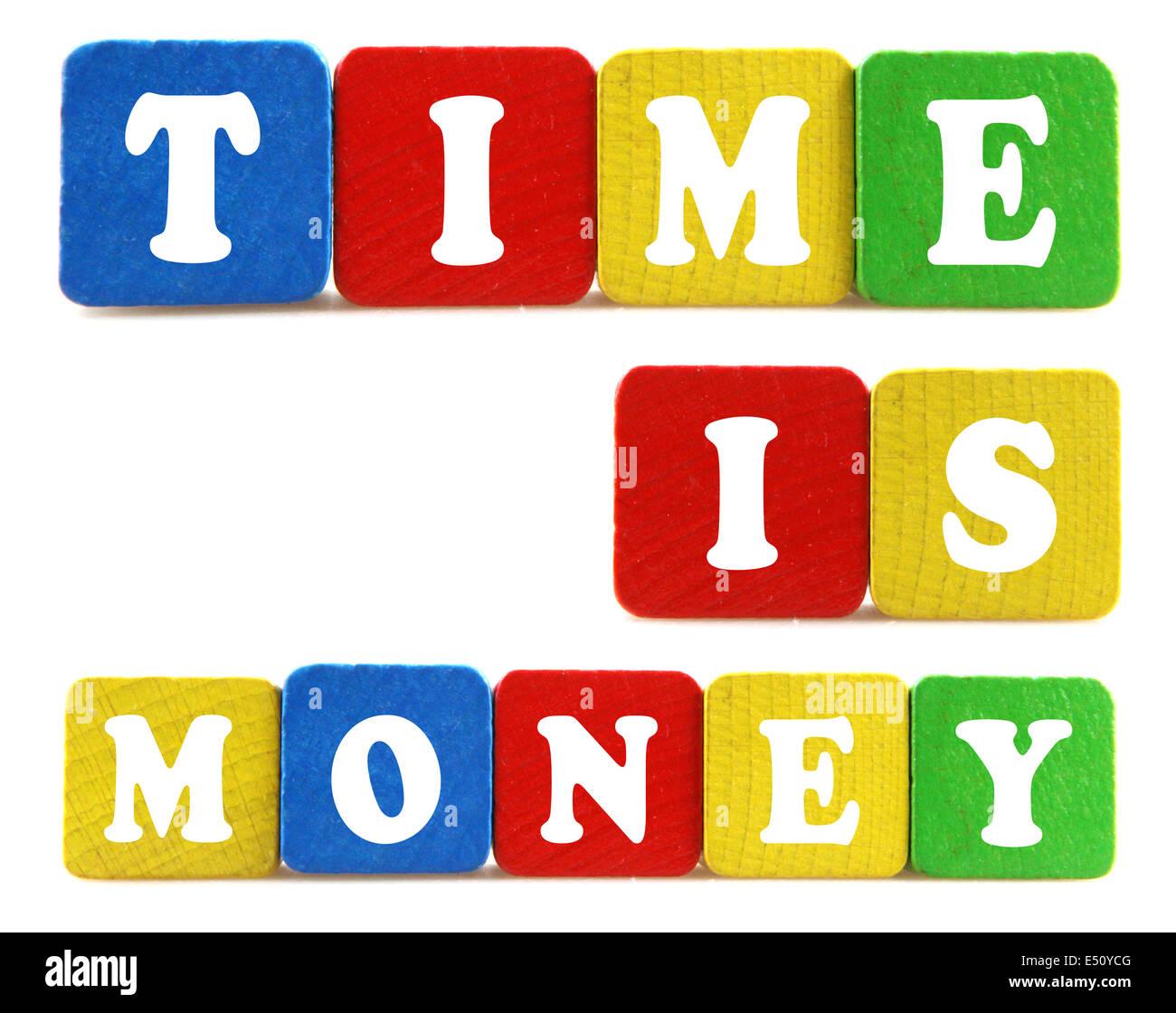 Concepto el tiempo es dinero. Imagen De Stock