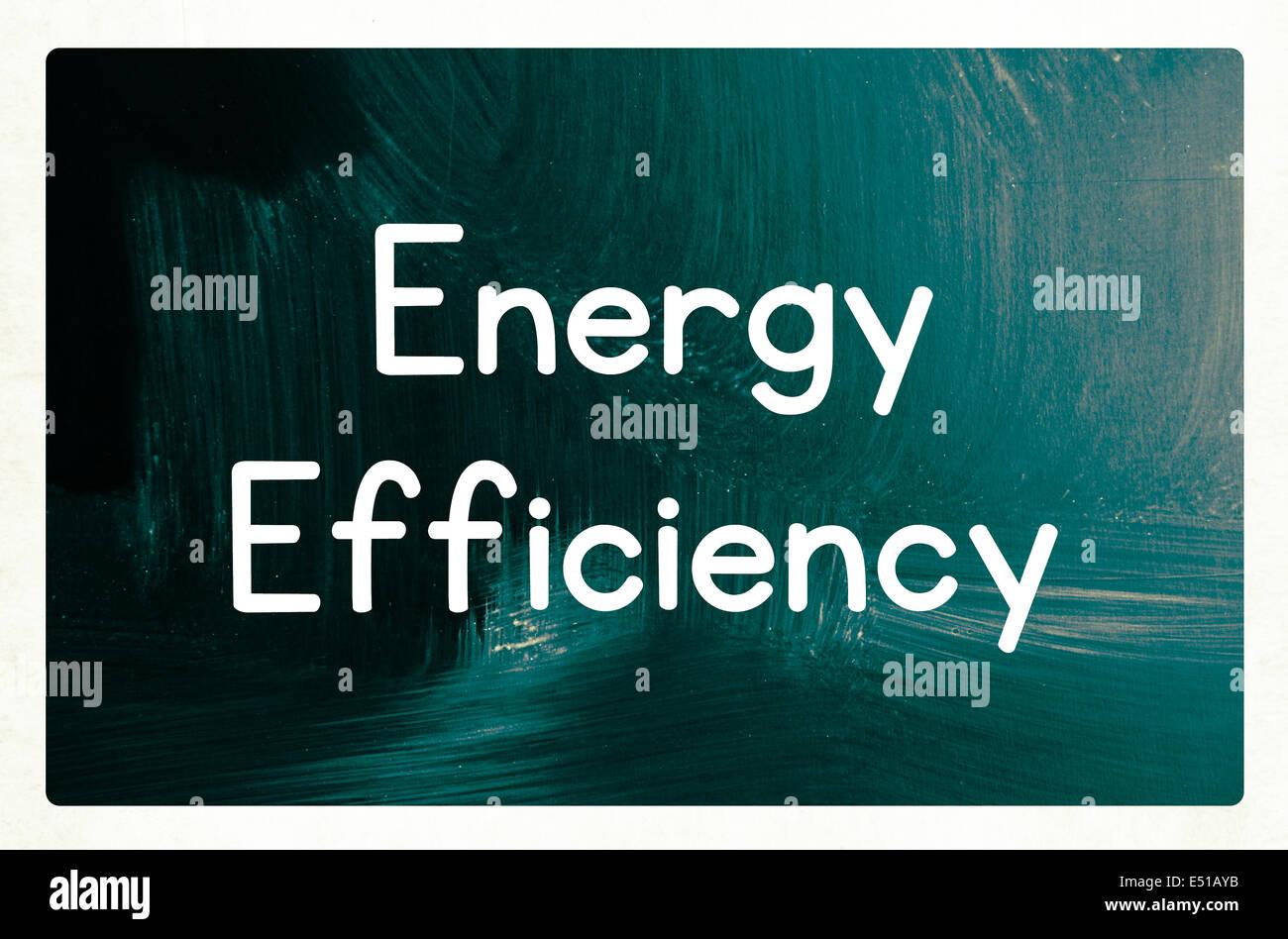 Concepto de eficiencia energética Imagen De Stock